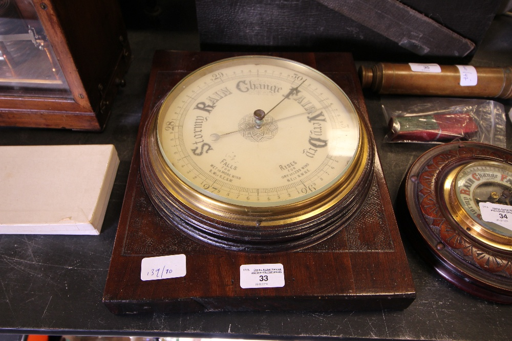 Lot 33 - Large Wall Aneroid Barometer