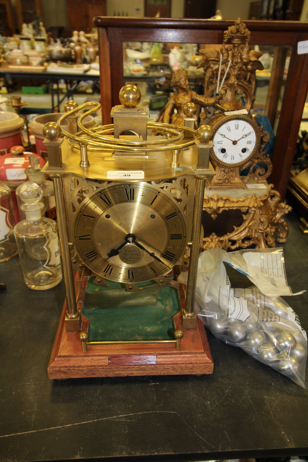 Lot 49 - Harding & Bazeley - Cheltenham Spherical Weight Clock no 94
