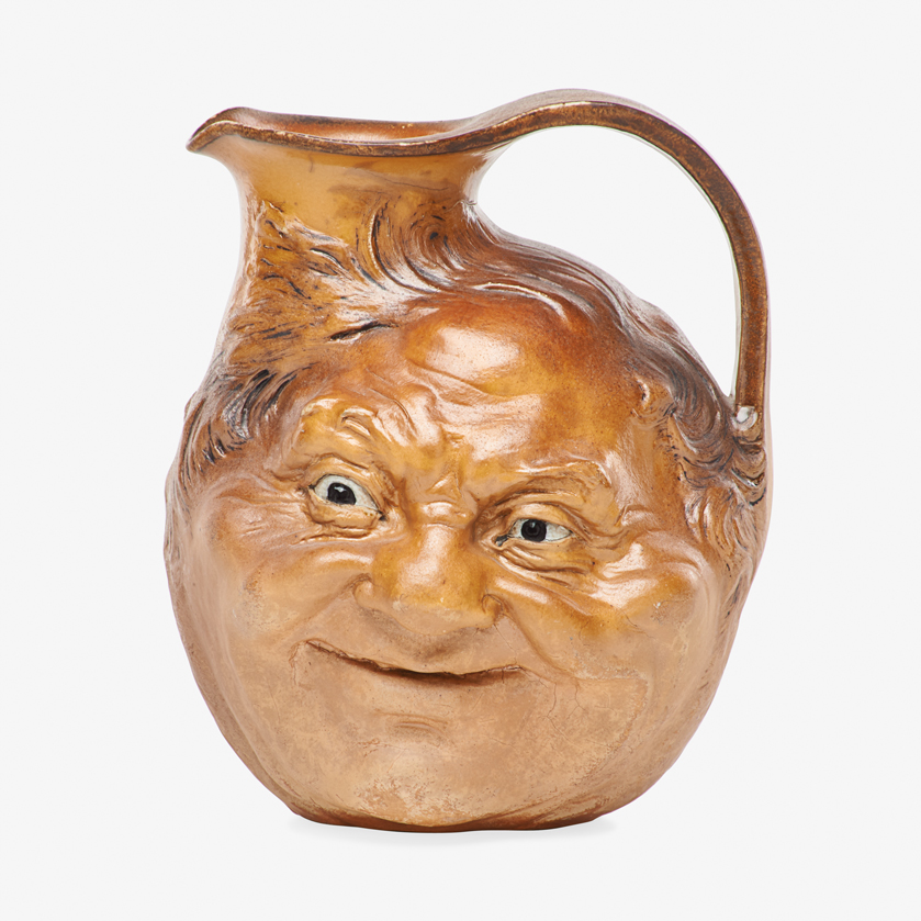 Lot 12 - ROBERT W. MARTIN; MARTIN BROTHERS LARGE DOUBLE-SIDED FACE JUG