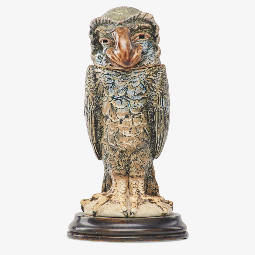Lot 2 - ROBERT W. MARTIN; MARTIN BROTHERS BARRISTER BIRD TOBACCO JAR