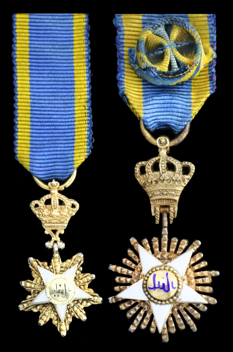 Lot 743 - Egypt, Kingdom, Order of the Nile (2), 35mm including crown suspension x 20mm and 26mm includin...