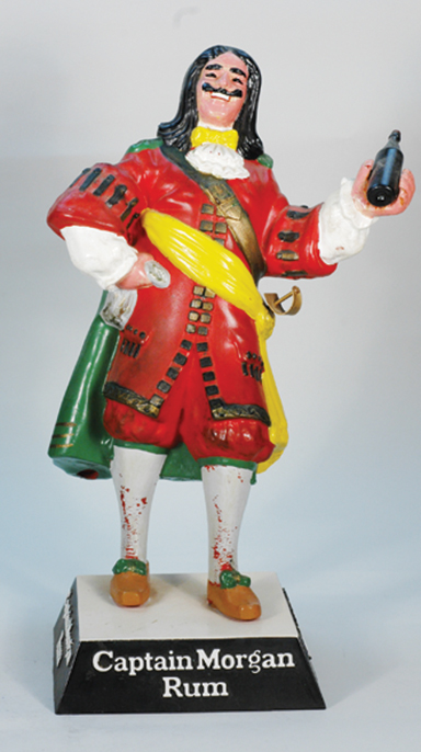 Lot 633 An Advertising Whisky Brewery Figure Statue 310mm Tall Rubberoid