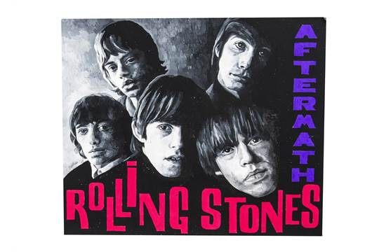The Rolling Stones: Aftermath - original artwork of mixed