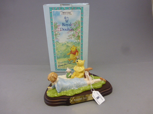 Lot 8 - A Royal Doulton Winnie the pooh figure, Summer's Day picnic, boxed