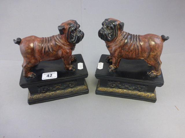 Lot 42 - Pair of contemporary bulldog bookends