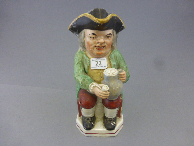 Lot 22 - A 19th Century Staffordshire Toby Jug