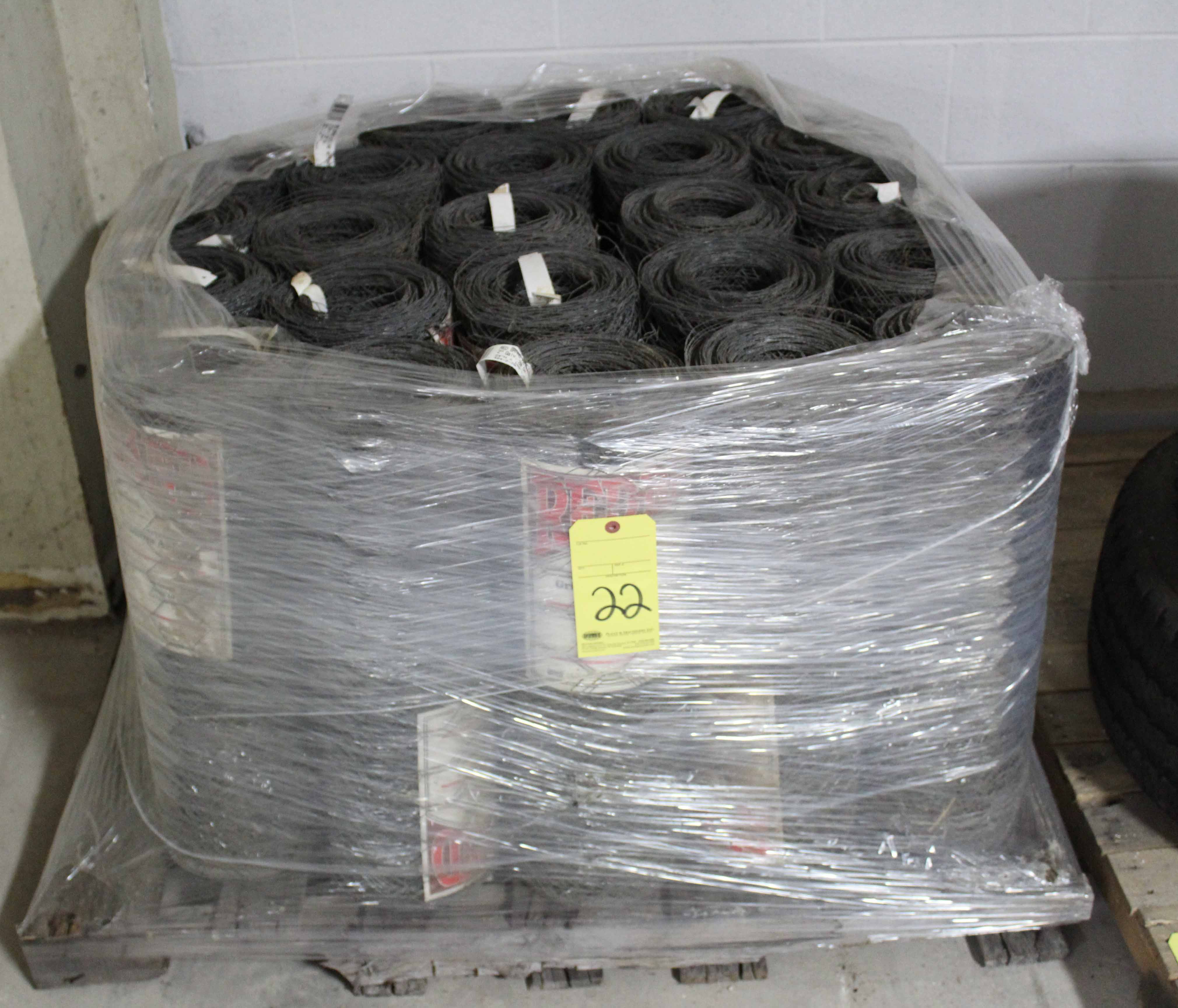 "Lot 22 - LOT OF GALVANIZED CHICKEN WIRE, 2"" (on one pallet)"