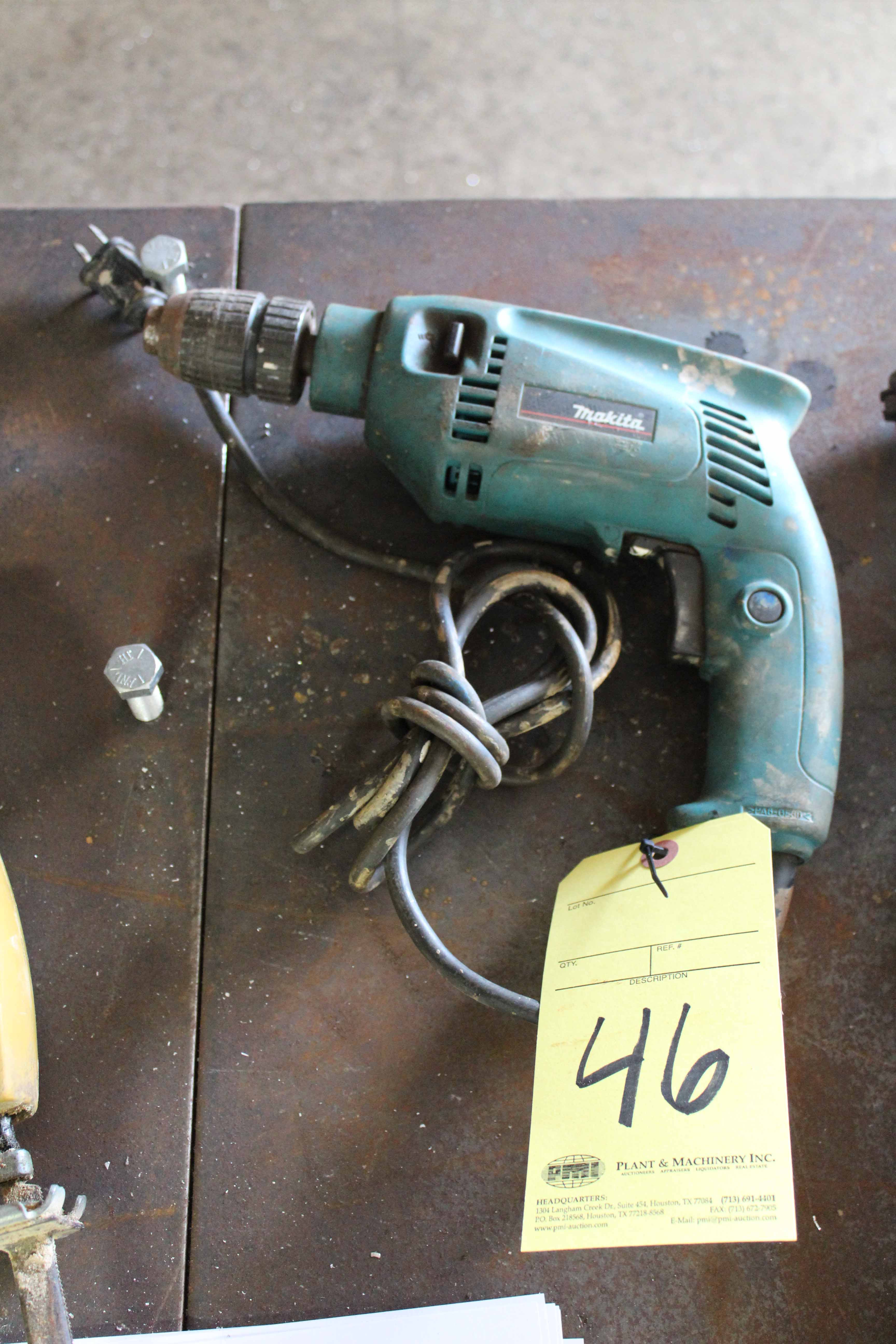 Lot 46 - ELECTRIC HAND DRILL, MAKITA