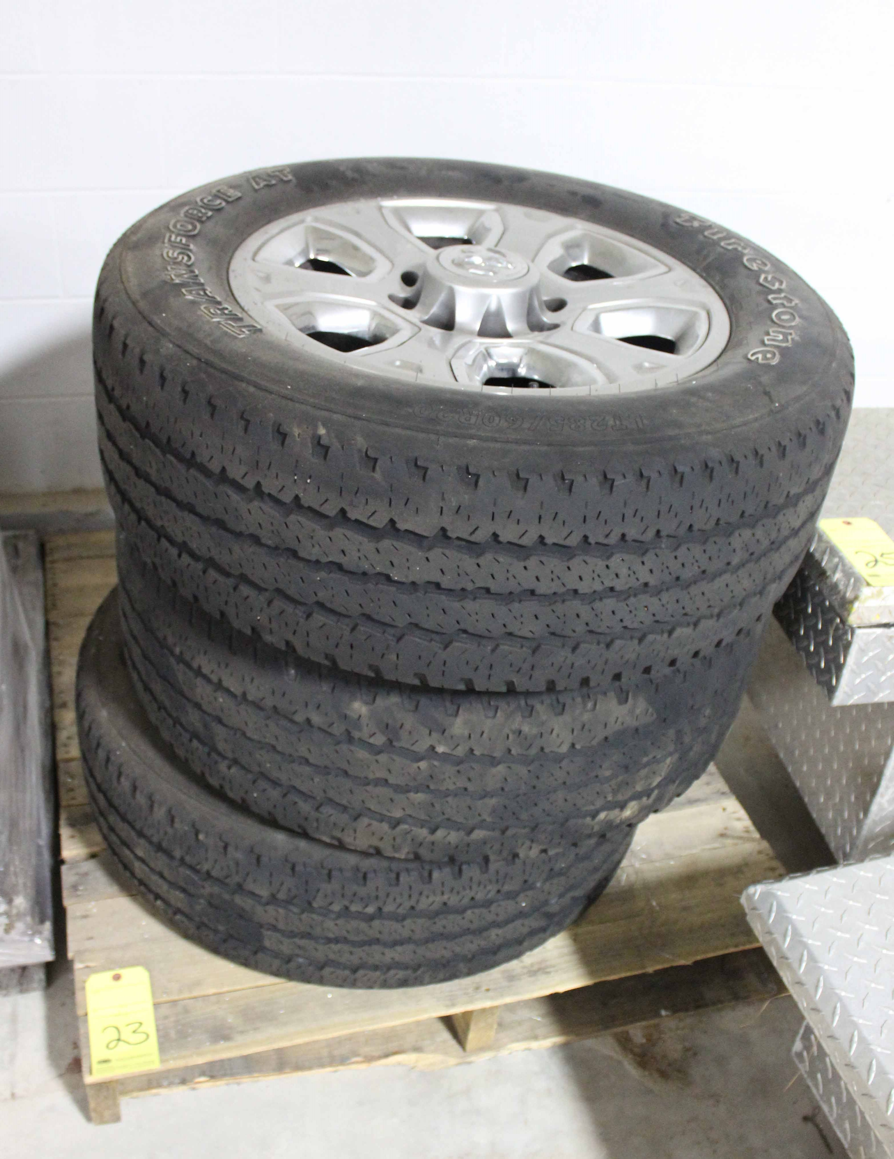 "Lot 23 - LOT OF WHEELS & TIRES, 20"" (for Dodge Ram 2500 Pickup Truck)"