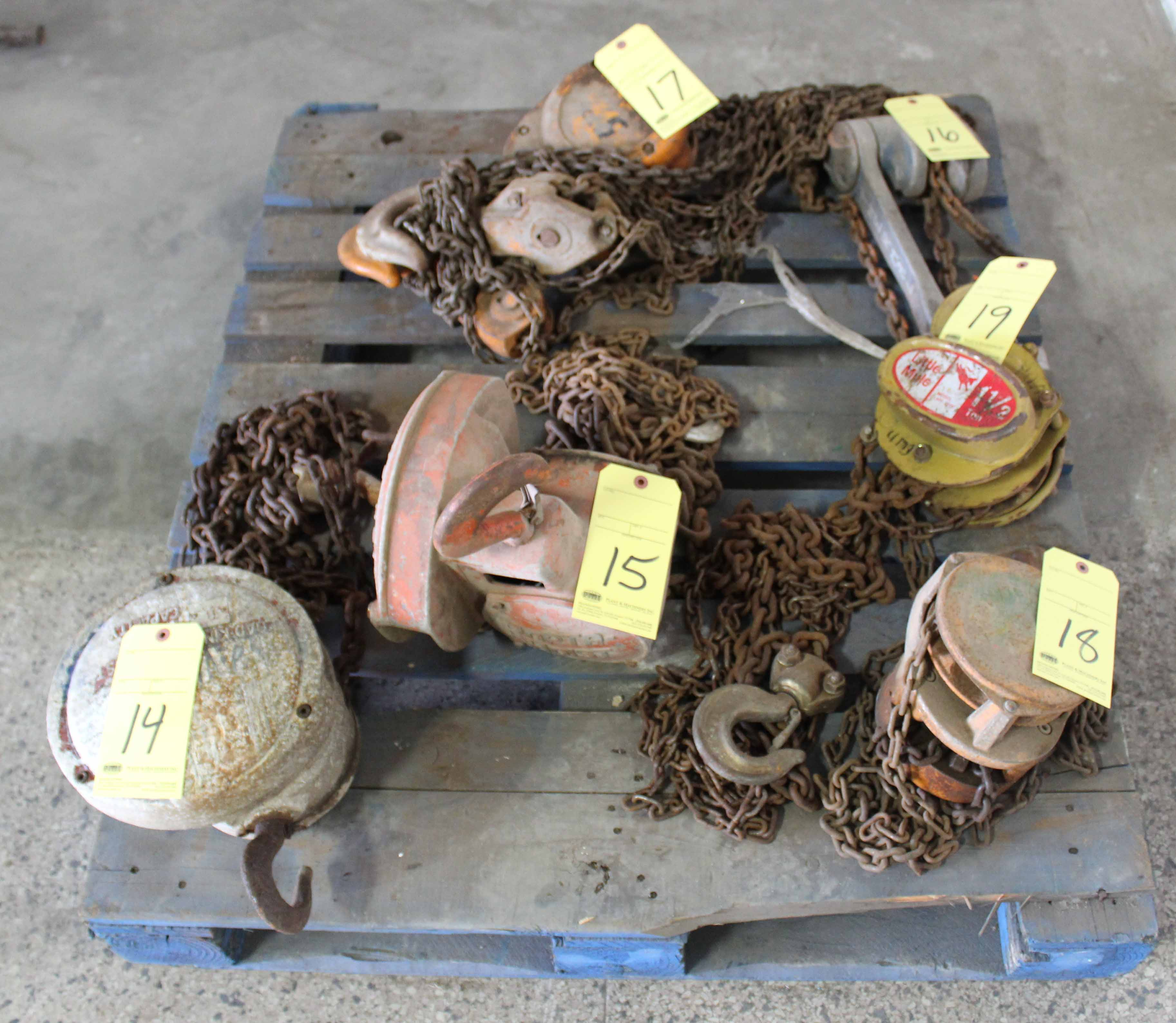 Lot 19 - CHAIN HOIST, LITTLE MULE 1-1/2 T. CAP. MDL. LMH3000