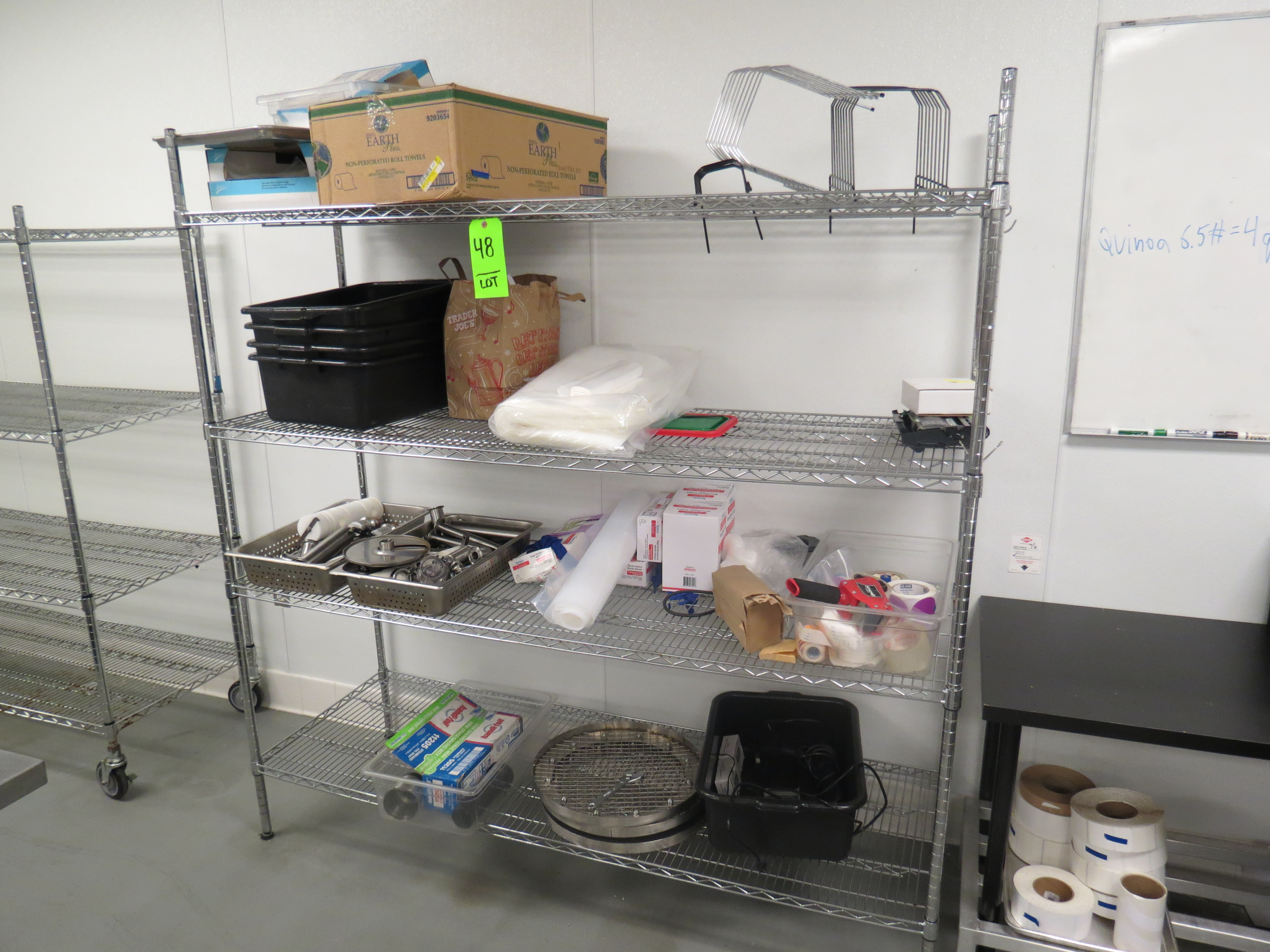 Lot 48 - CHROME STATIONARY WIRE RACK (NO CONTENTS)