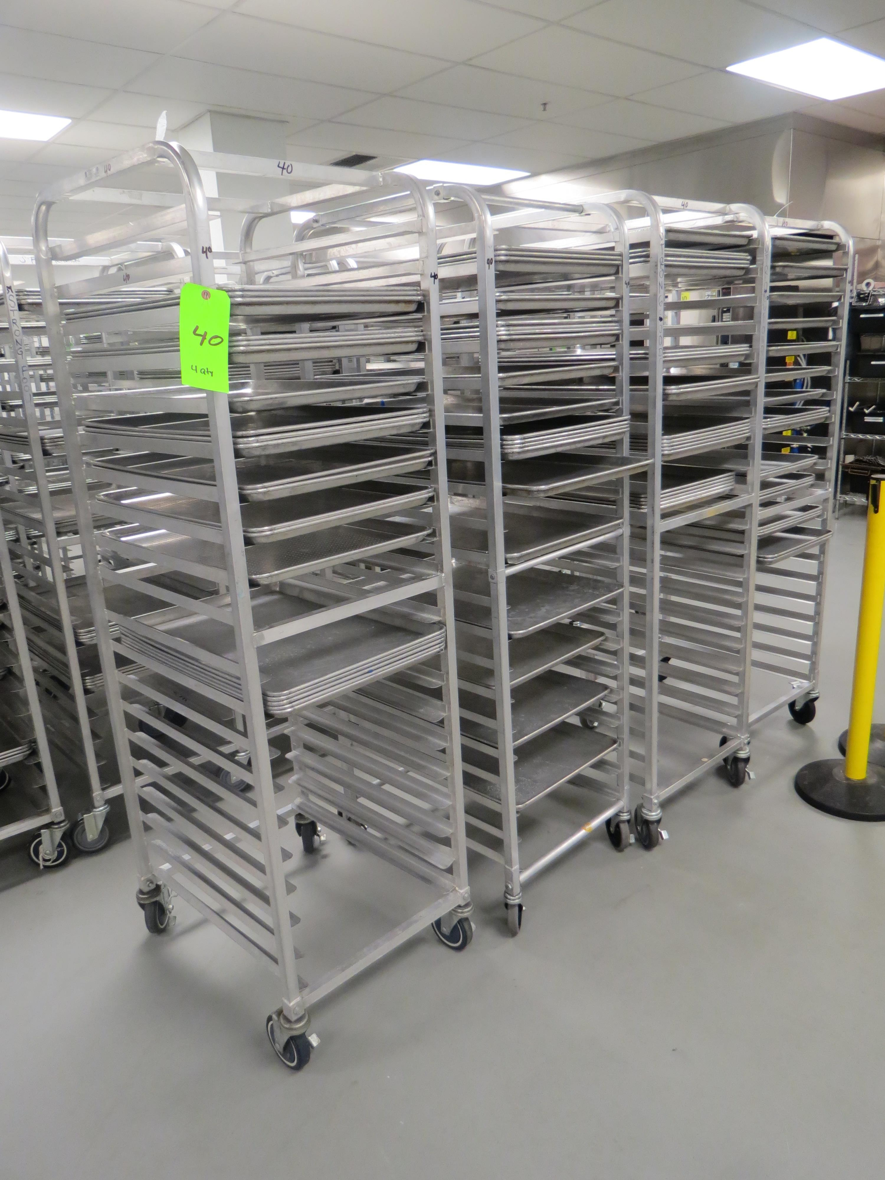 Lot 40 - MOBILE BAKER RACKS WITH 18 TRAYS