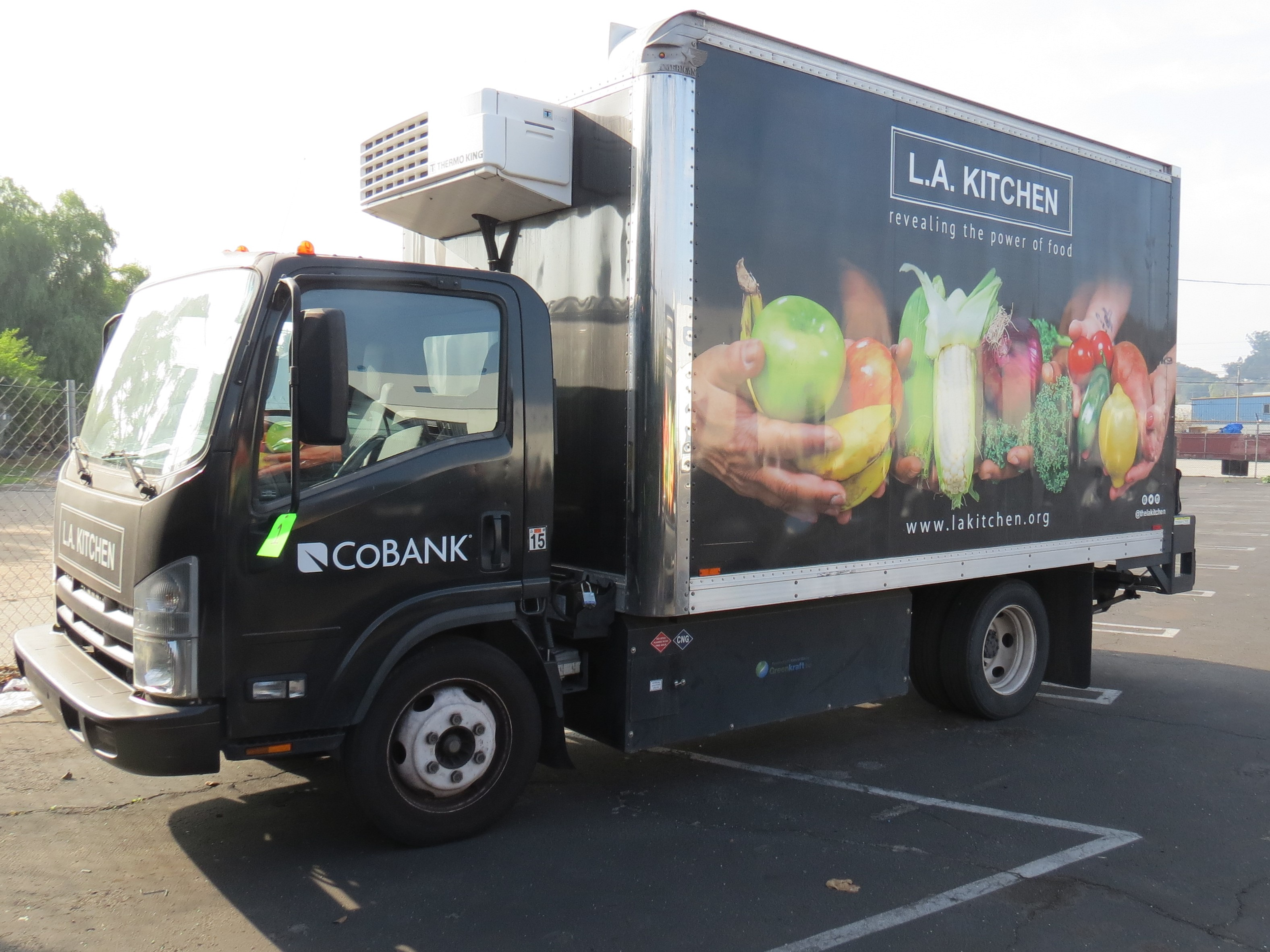 Lot 1 - 2012, ISUZU REFRIGERATED BOX TRUCK, 16' BOX, LIFTGATE, SIDE DOOR, 102,800 MILES,CNG FUEL