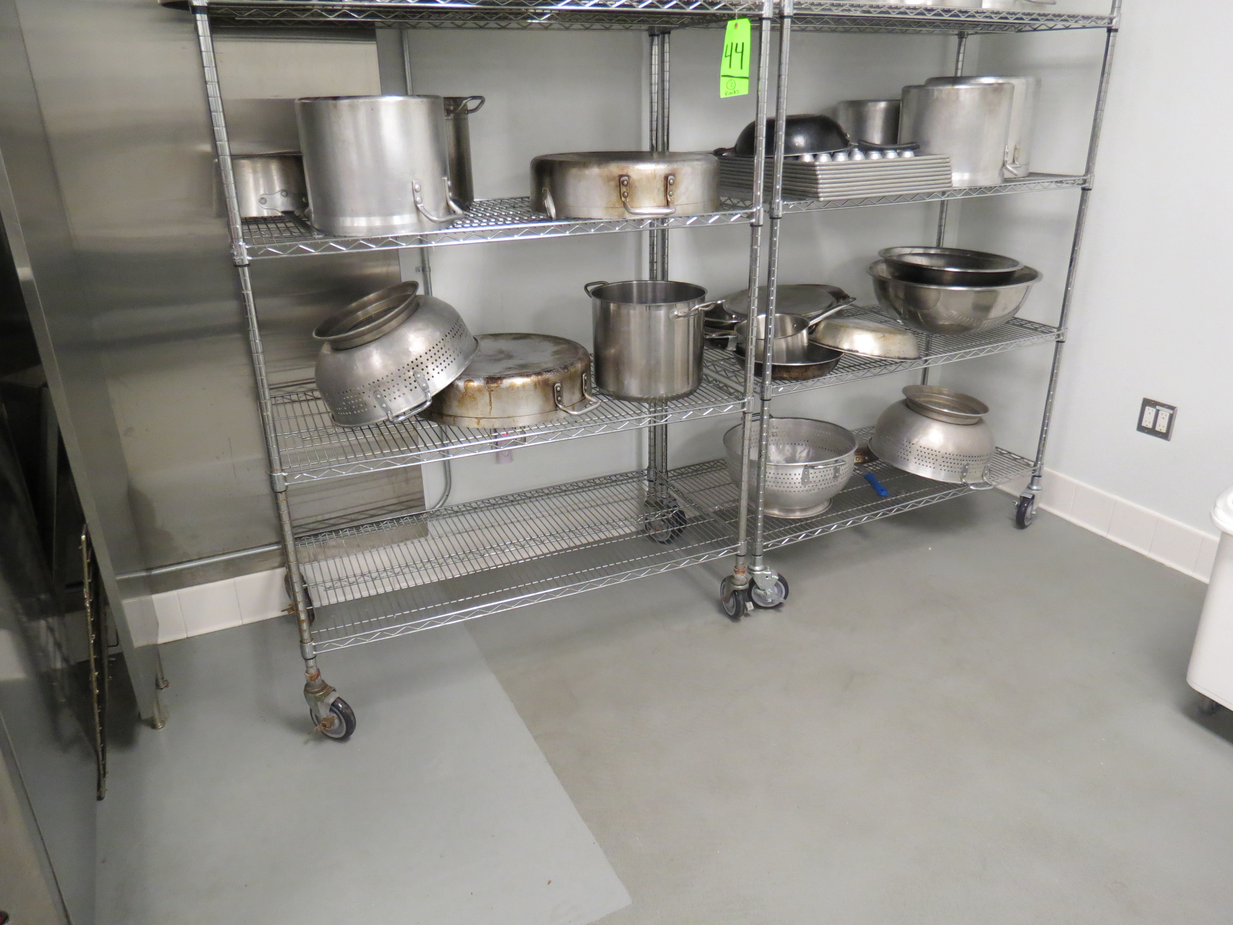 Lot 44 - ASSORTED CHROME MOBILE WIRE RACKS