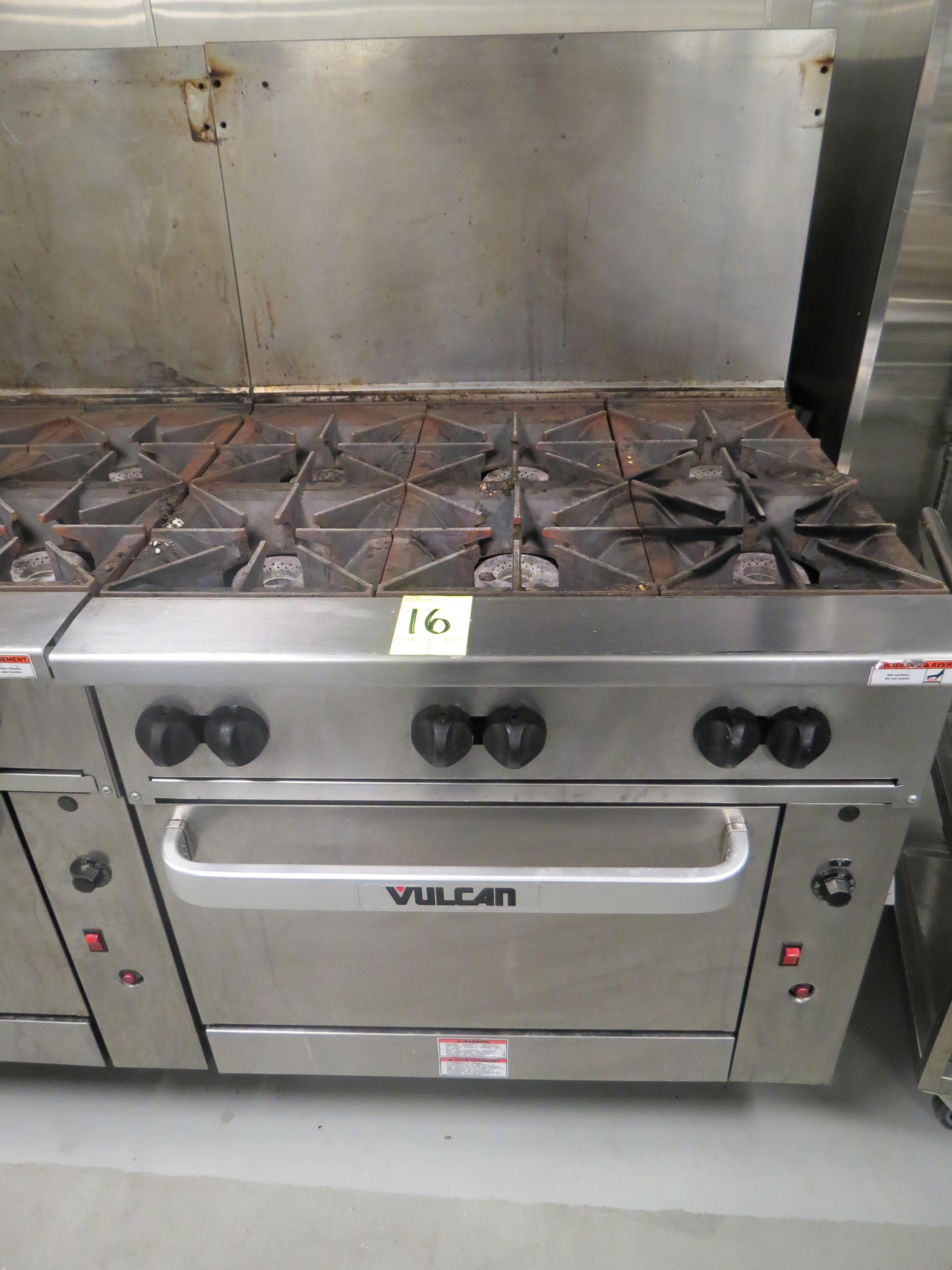 "Lot 16 - VULCAN 36"" GAS RANGES, 6-BURNER, CONVECTION OVEN"