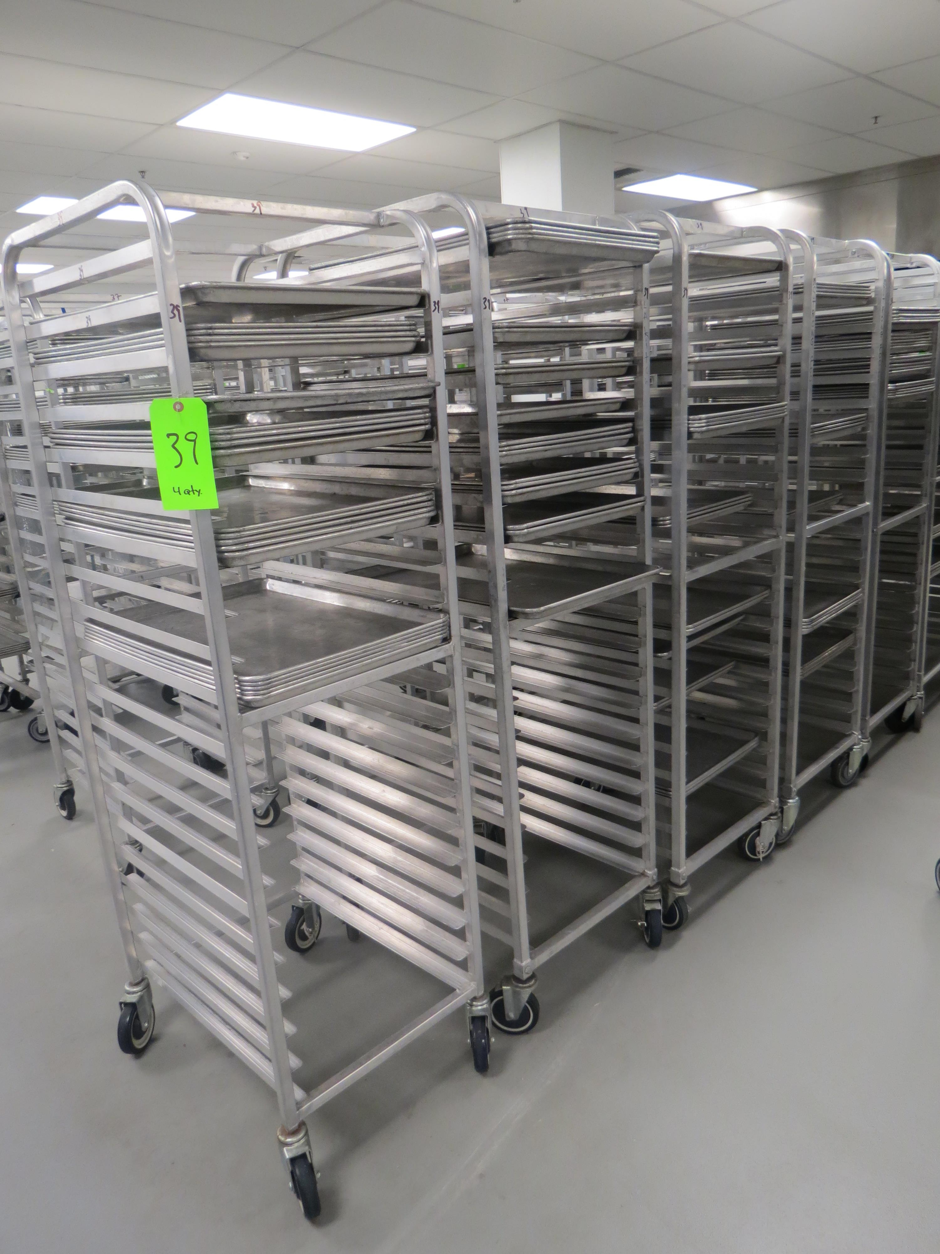 Lot 39 - MOBILE BAKER RACKS WITH 18 TRAYS