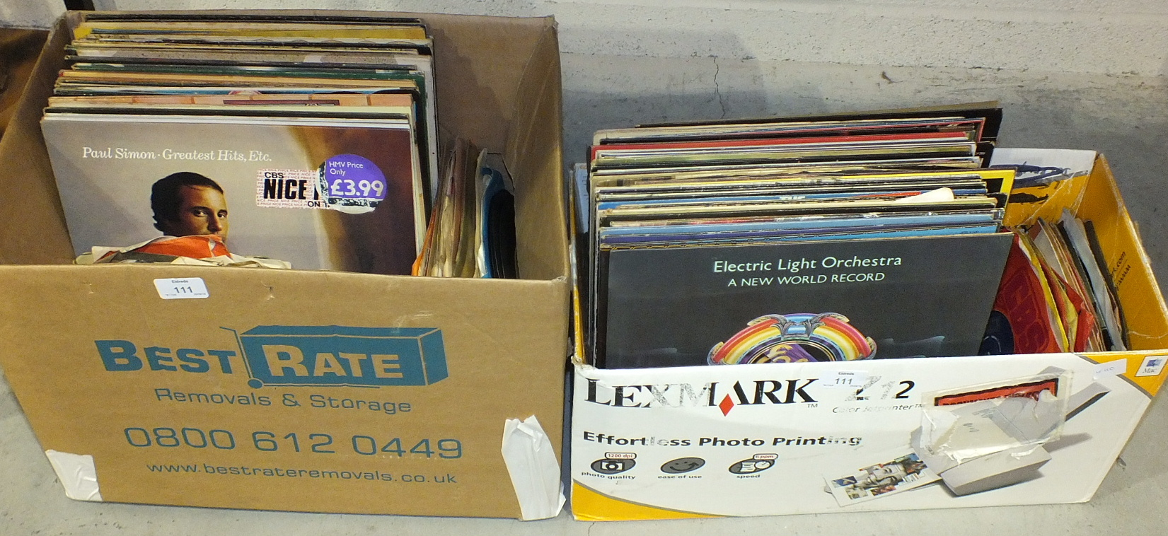 Lot 111 - A quantity of LP and 45RPM records.