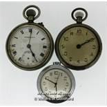 Three vintage pocket watches