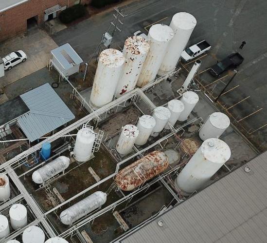 Tank farm section 6k - 30k gallon vertical/horizontal tanks