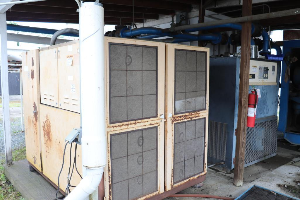 Quincy QSI1500 & Kaeser rotary screw compressors w/ dryer and tank - Image 8 of 28