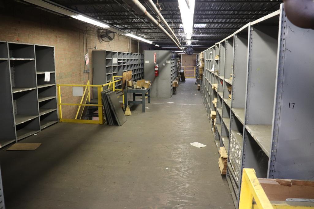 Parts shelving units