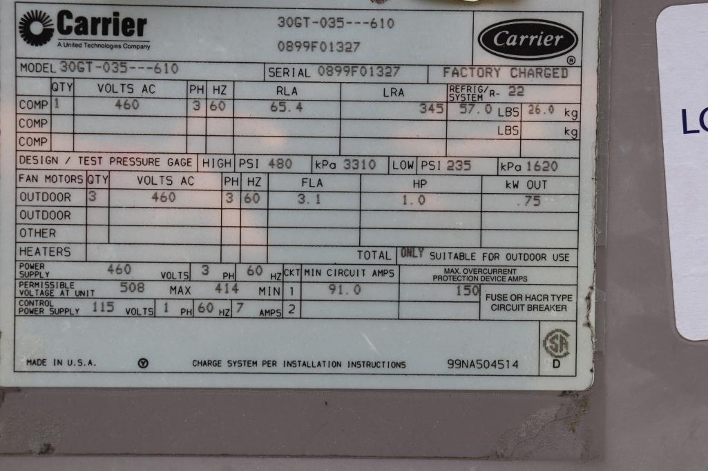 Carrier 30GT-035-610 Liquid chiller - Image 3 of 4