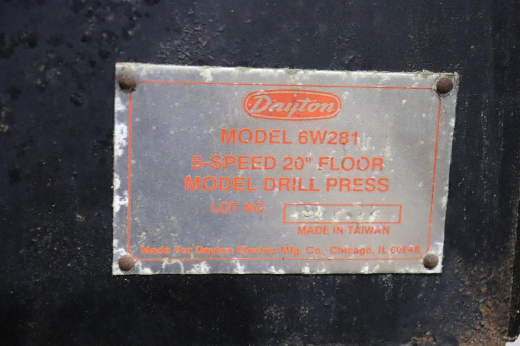 "Dayton Model 6W281 5 speed 20"" drill press - Image 4 of 5"