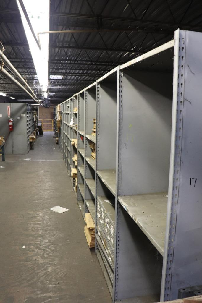 Parts shelving units - Image 3 of 9