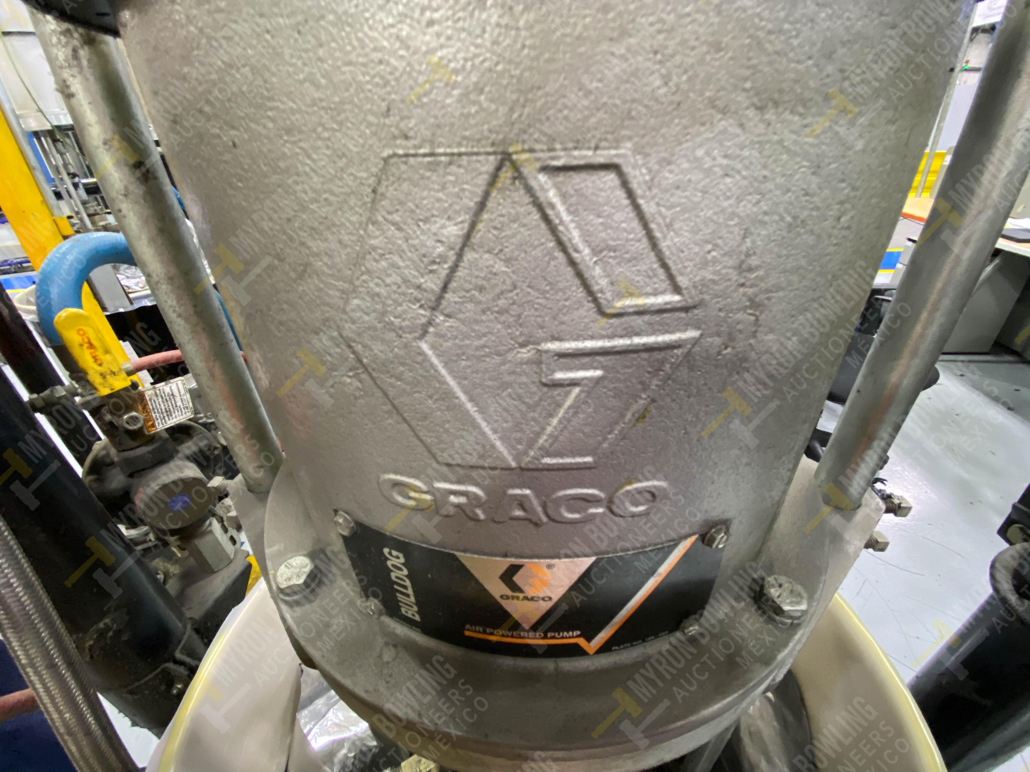 Dos sistemas de dispensador de sellador RTV (bombas) marca Graco Bulldog, 8.3 L/min max - Image 9 of 12