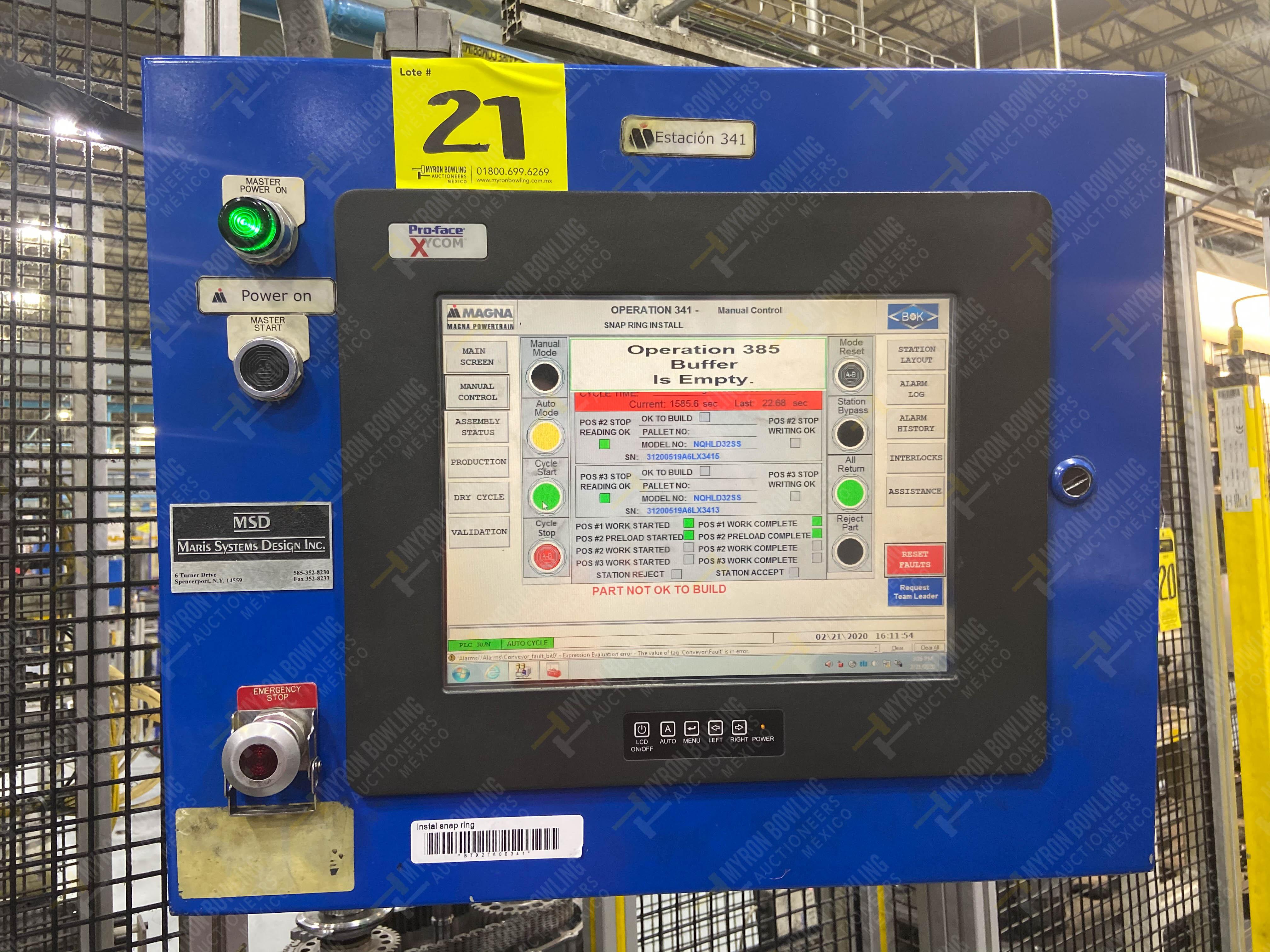 Estación semiautomática para operación 341, contiene: Prensa en estructura de placa de acero - Image 24 of 26