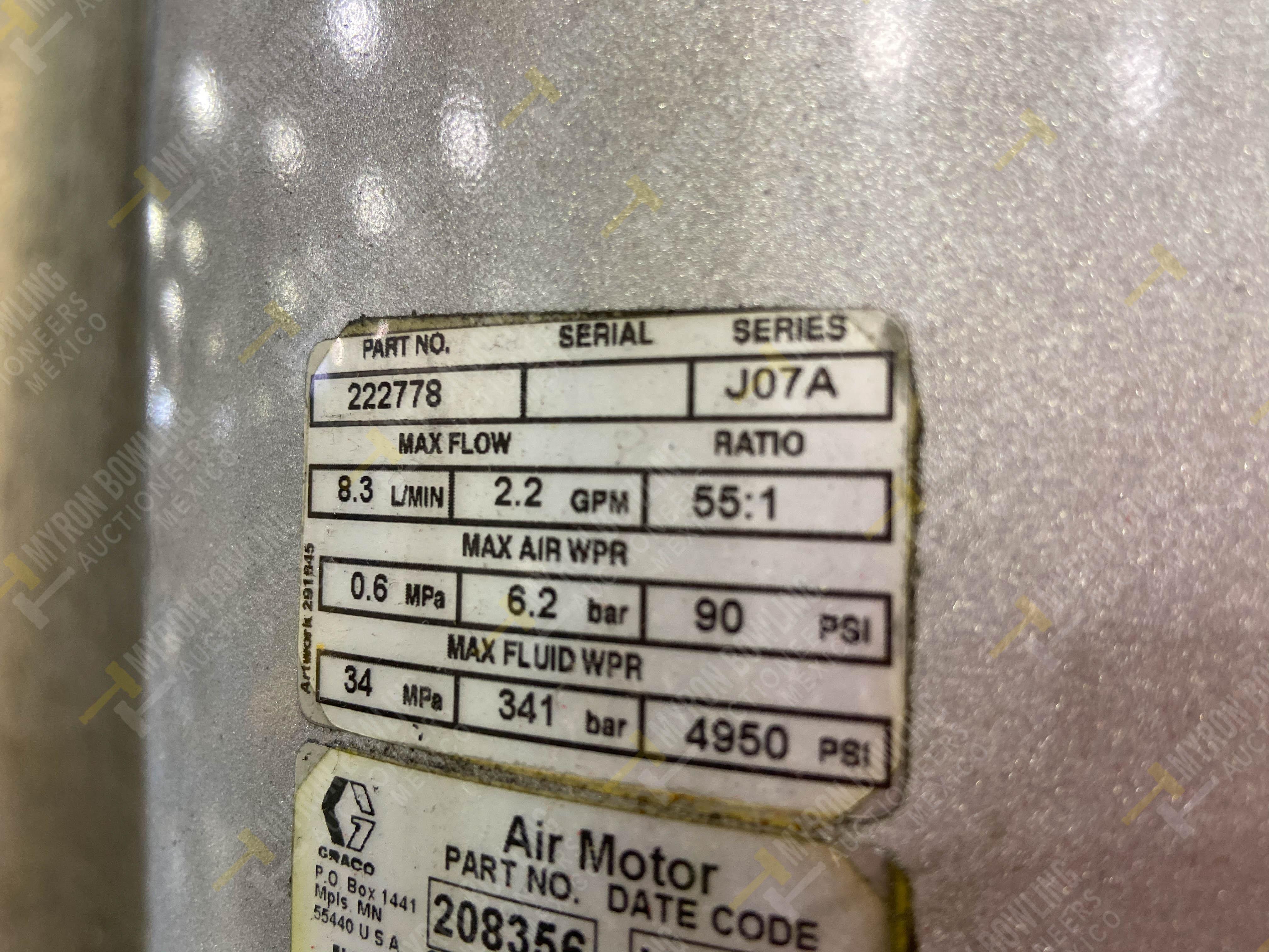 Dos sistemas de dispensador de sellador RTV (bombas) marca Graco Bulldog, 8.3 L/min max - Image 10 of 12