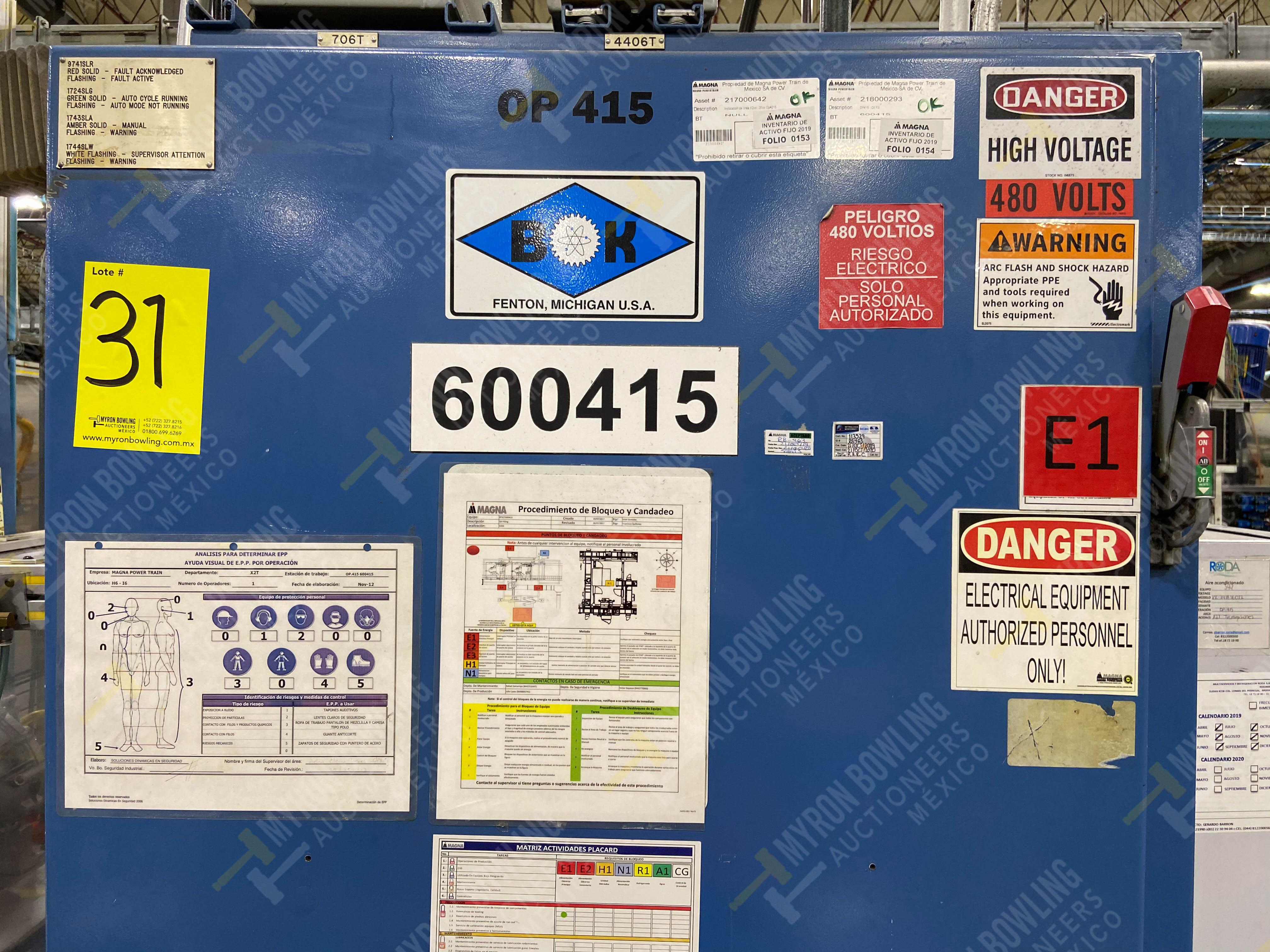 Estación semiautomática para operación 416, contiene: Sistema de llenado de aceite - Image 18 of 20