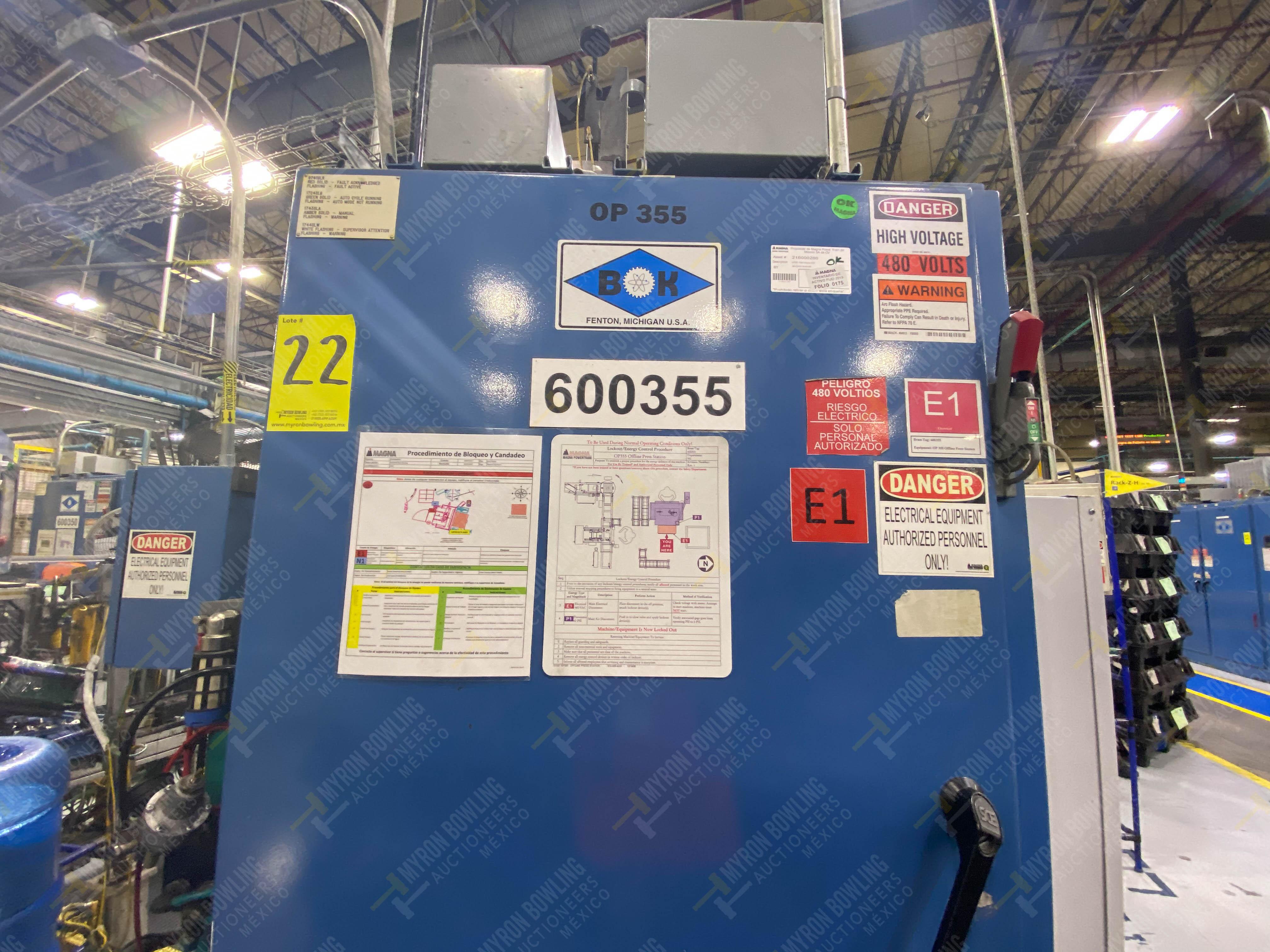 Estación semiautomática para operación 355A, contiene: Prensa en estructura de placa de acero - Image 24 of 36