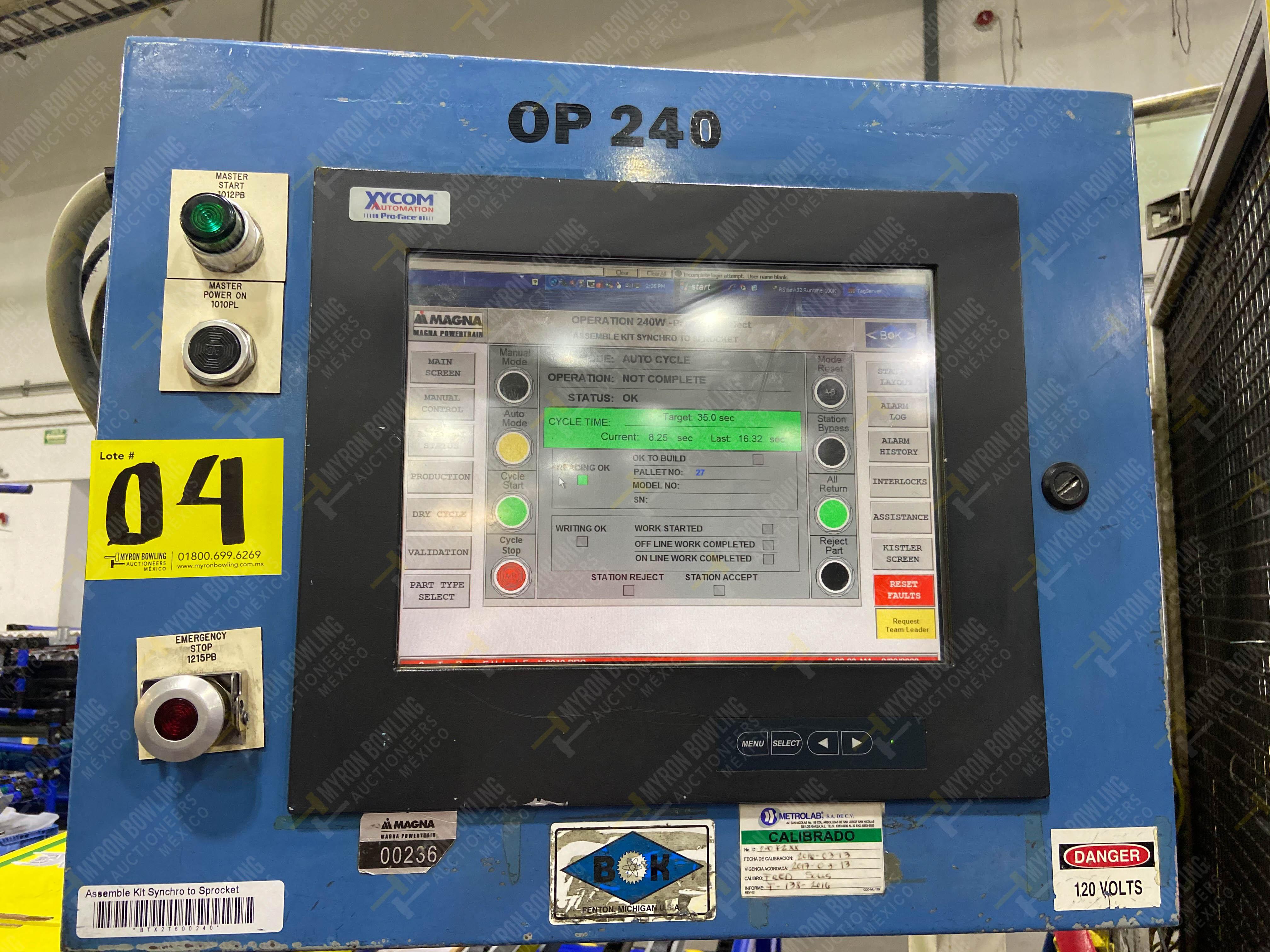 Estación semiautomática para operación 240A de ensamble de balero - Image 26 of 29