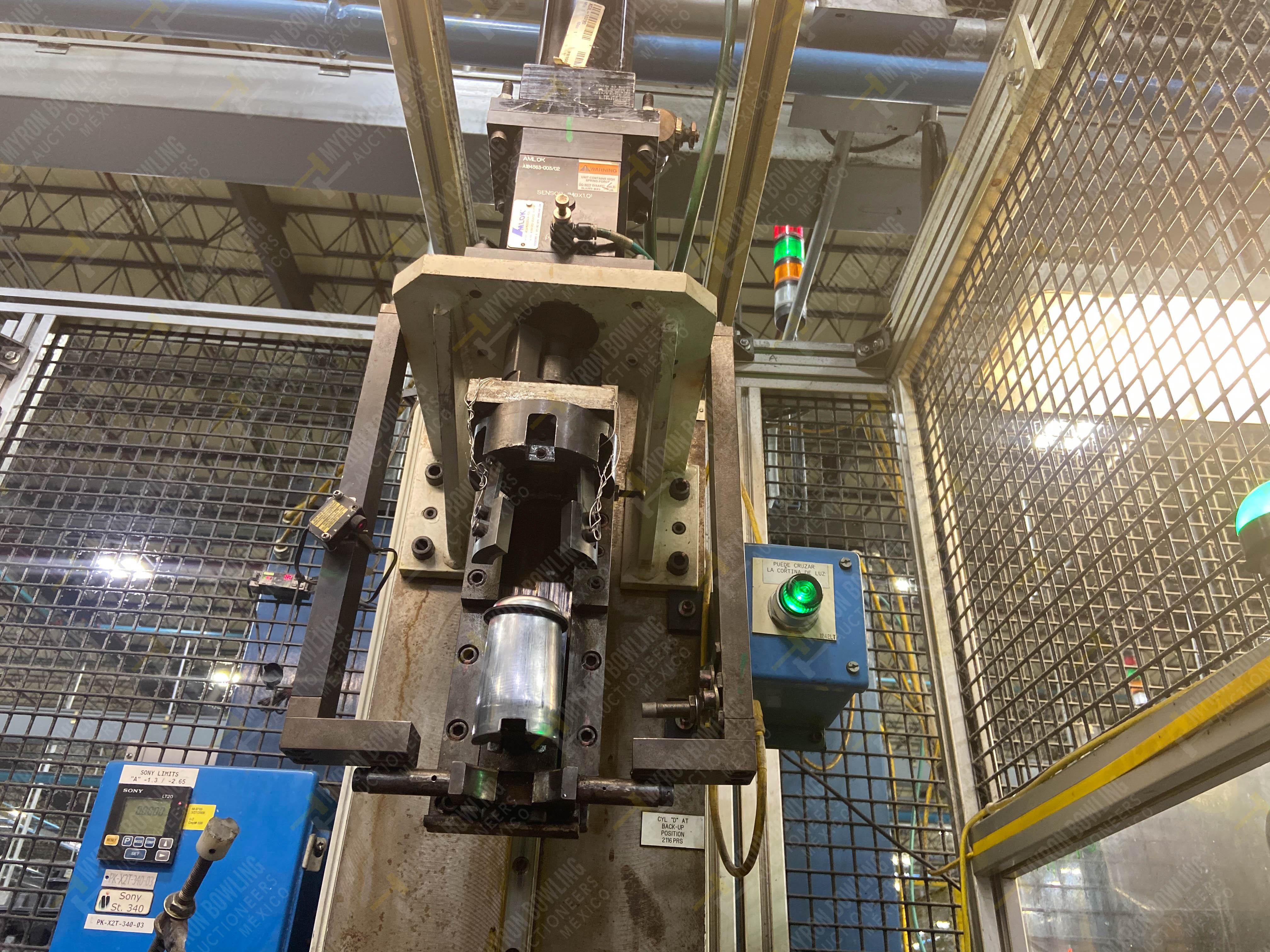 Estación semiautomática para operación 340, contiene: Prensa en estructura de placa de acero - Image 8 of 32