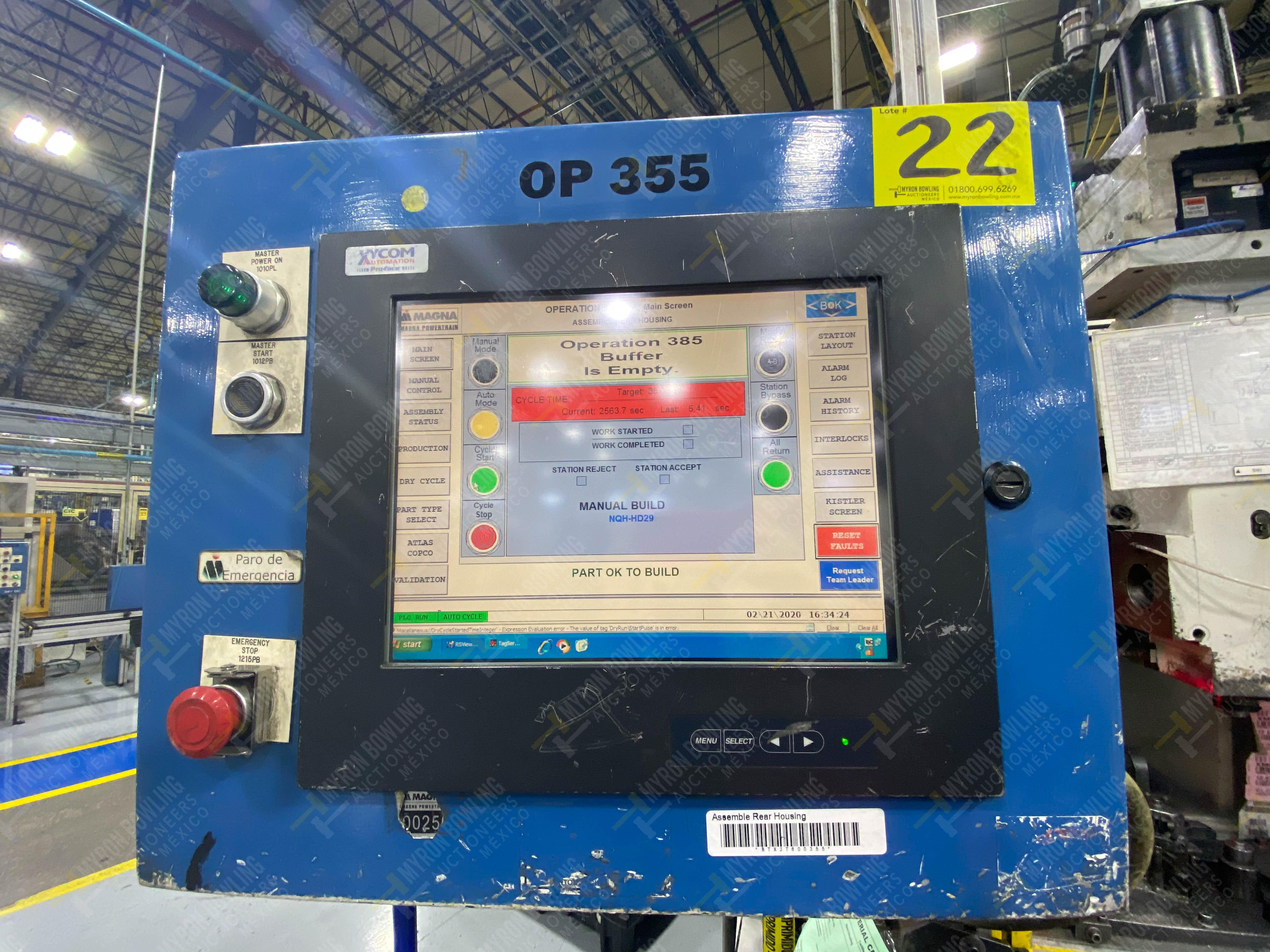 Estación semiautomática para operación 355A, contiene: Prensa en estructura de placa de acero - Image 32 of 36