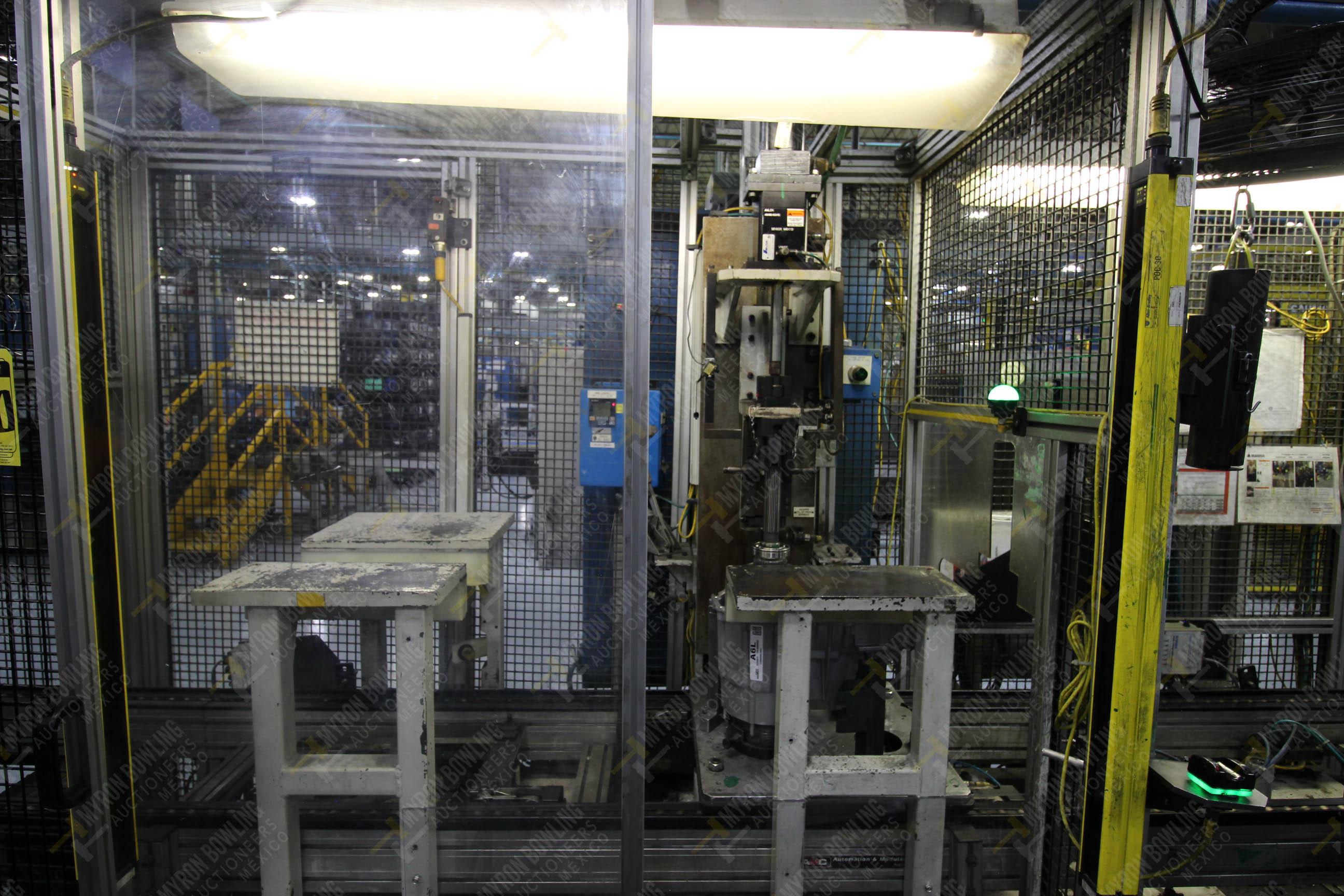 Estación semiautomática para operación 340, contiene: Prensa en estructura de placa de acero - Image 4 of 32