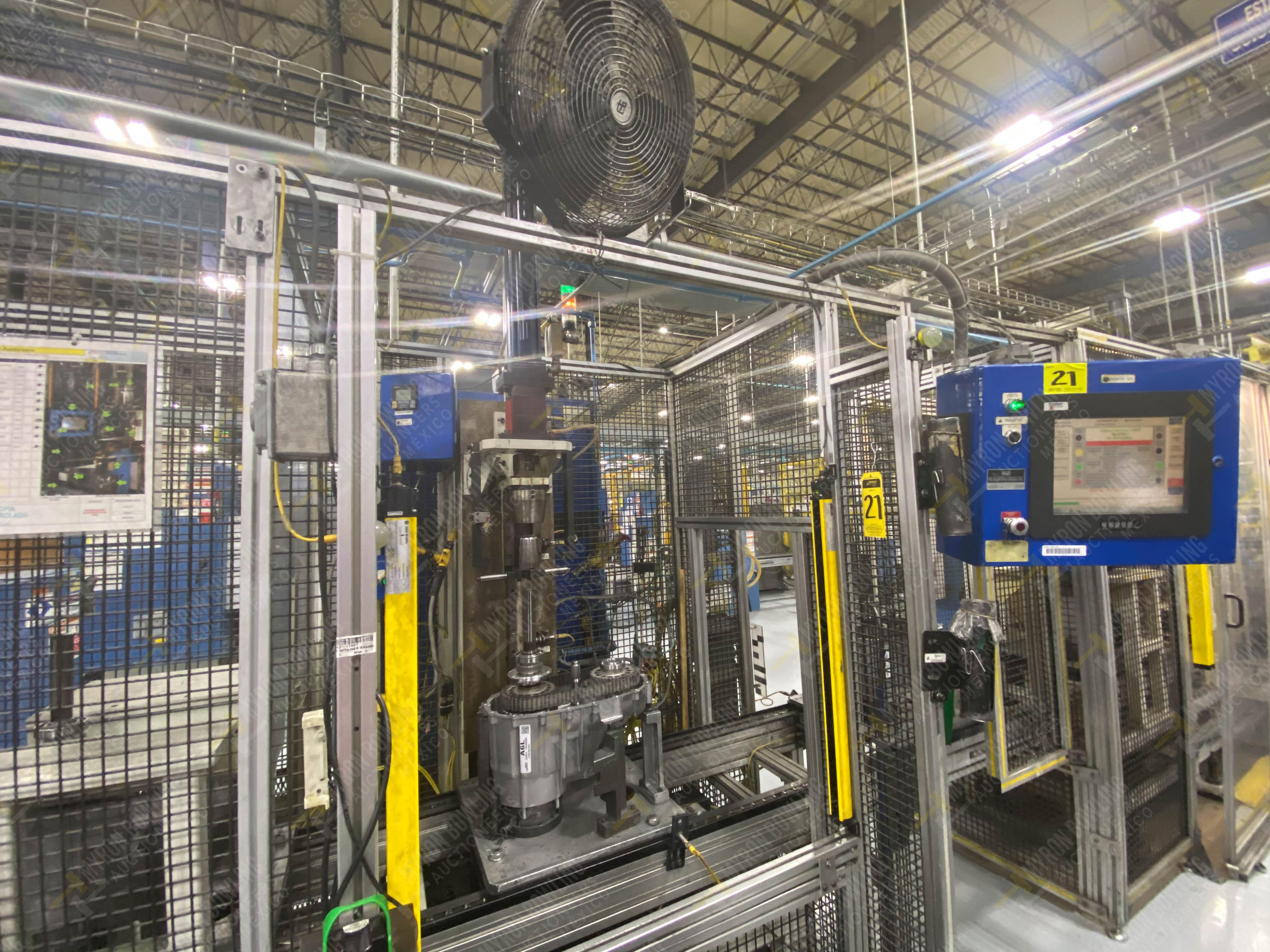 Estación semiautomática para operación 341, contiene: Prensa en estructura de placa de acero - Image 3 of 26