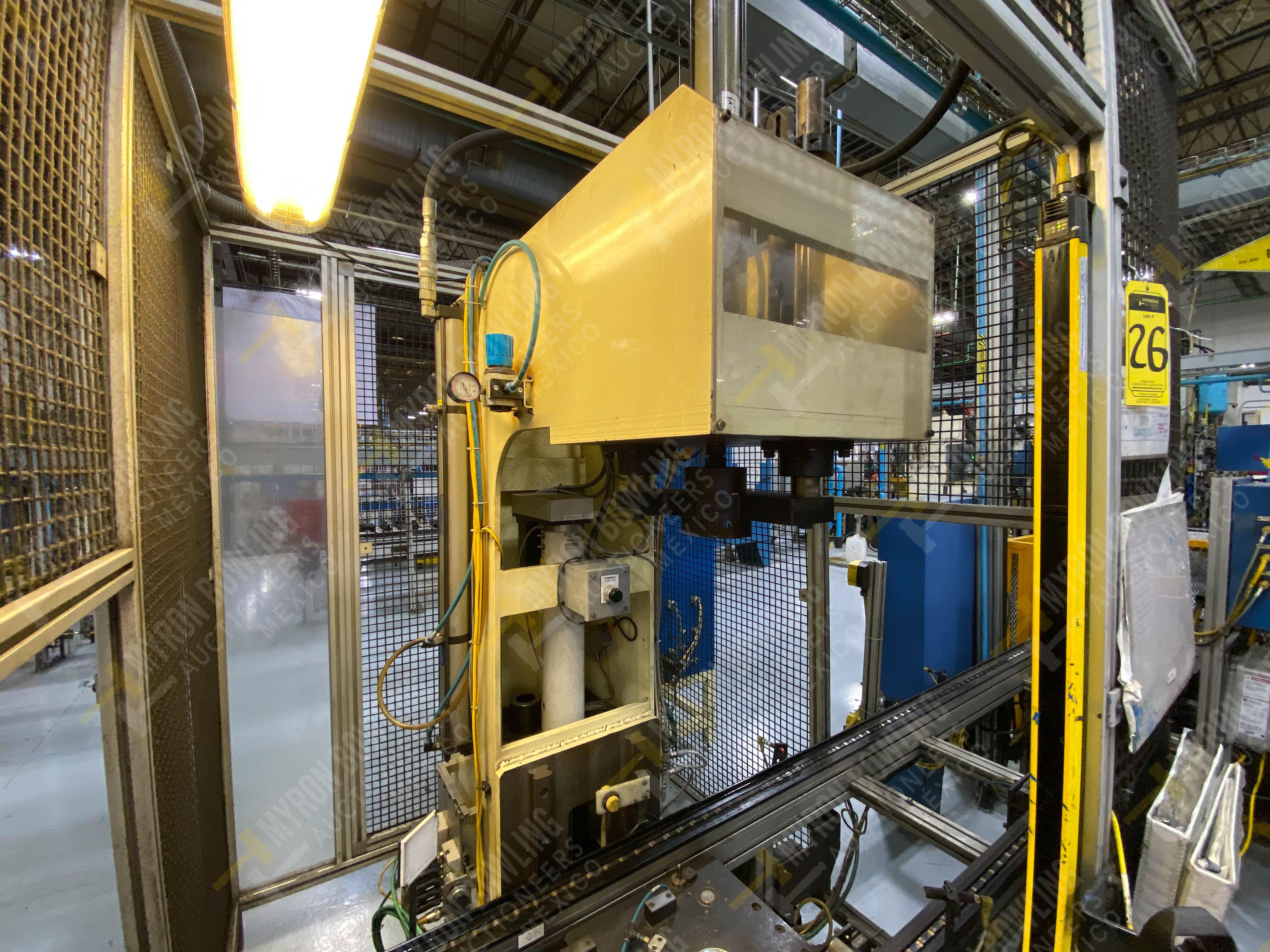 Estación manual para operación 383, contiene: Prensa marca PROMESS en estructura de placa de acero - Image 9 of 27