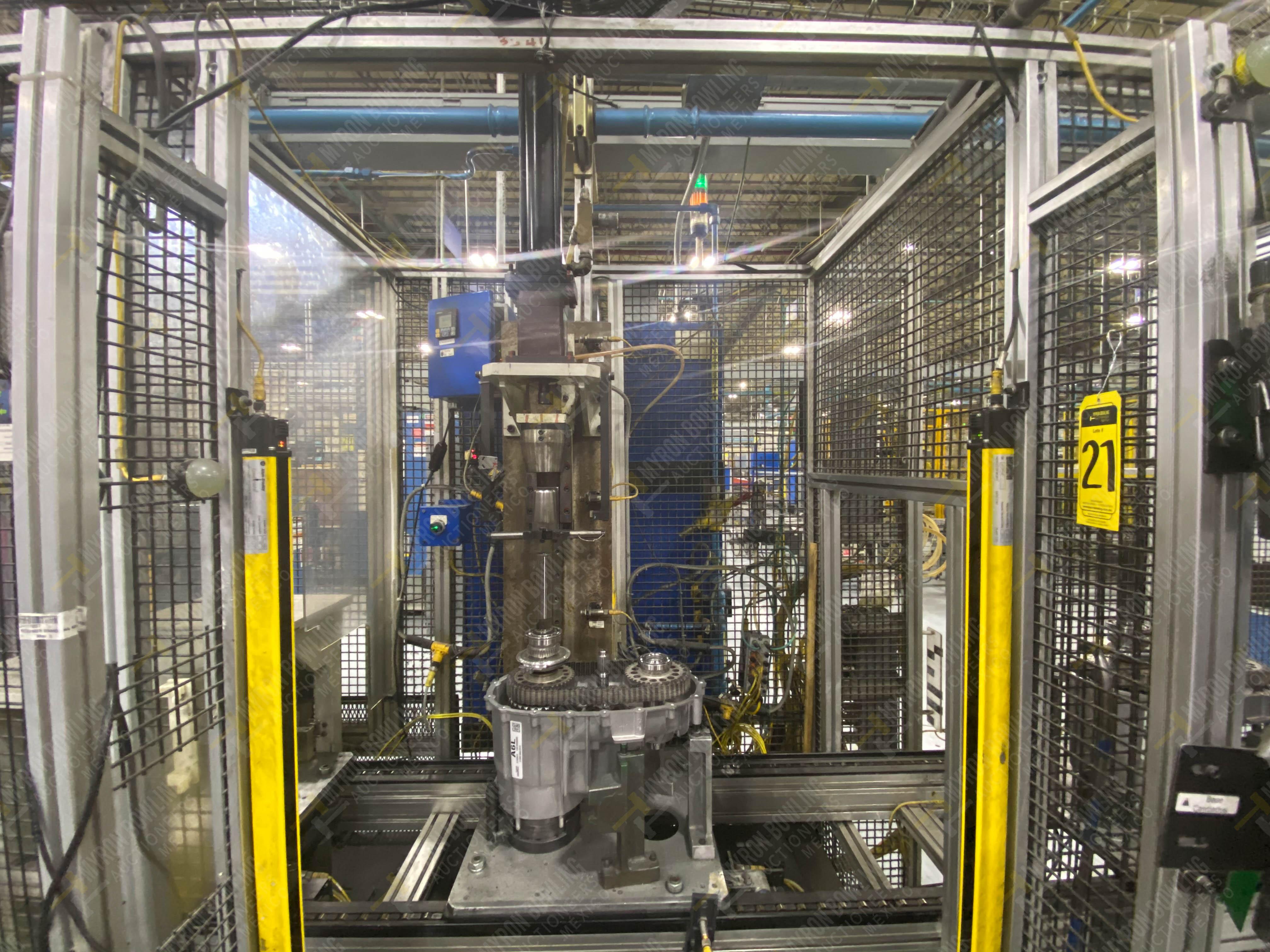 Estación semiautomática para operación 341, contiene: Prensa en estructura de placa de acero - Image 6 of 26