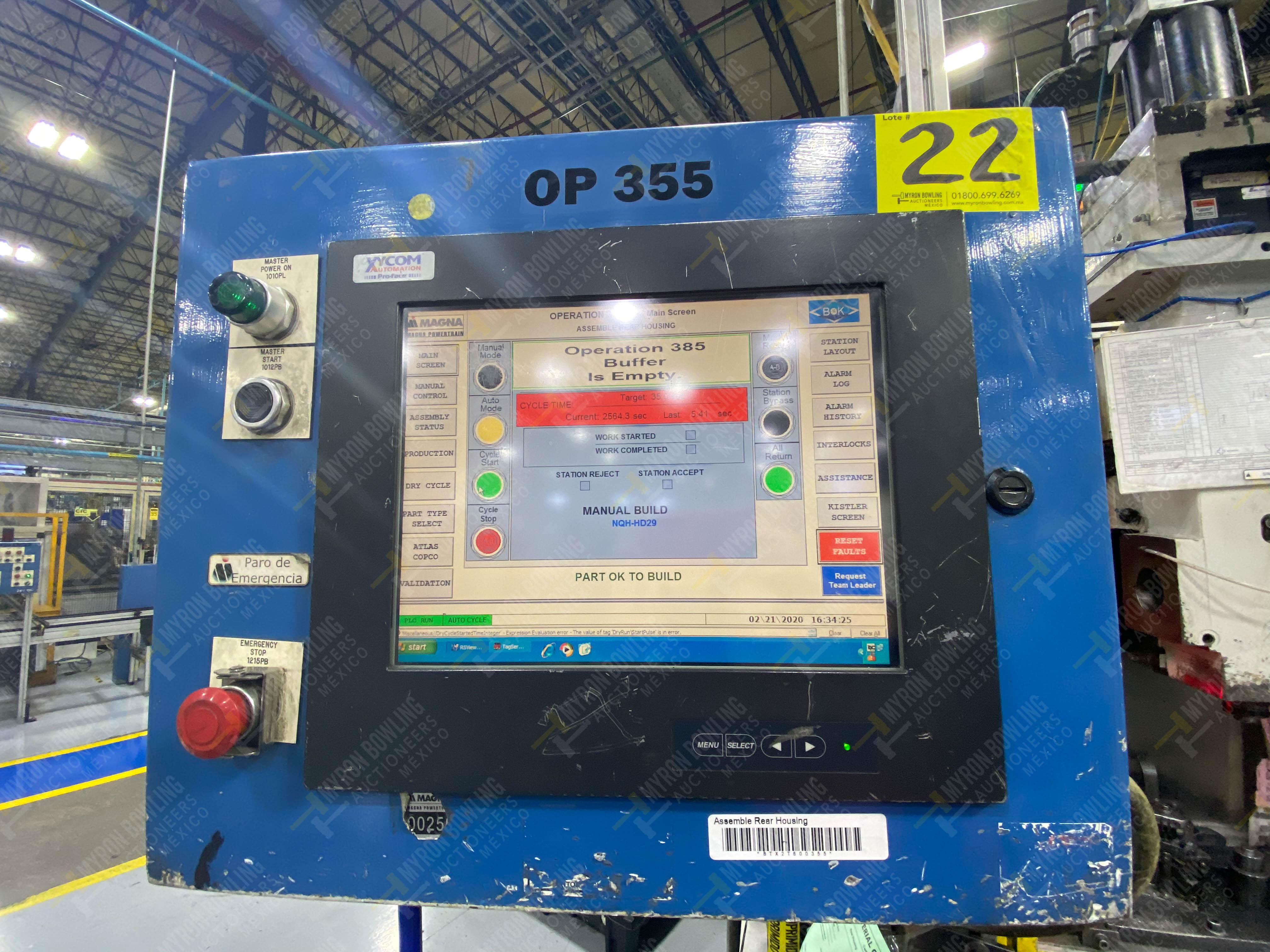 Estación semiautomática para operación 355A, contiene: Prensa en estructura de placa de acero - Image 33 of 36