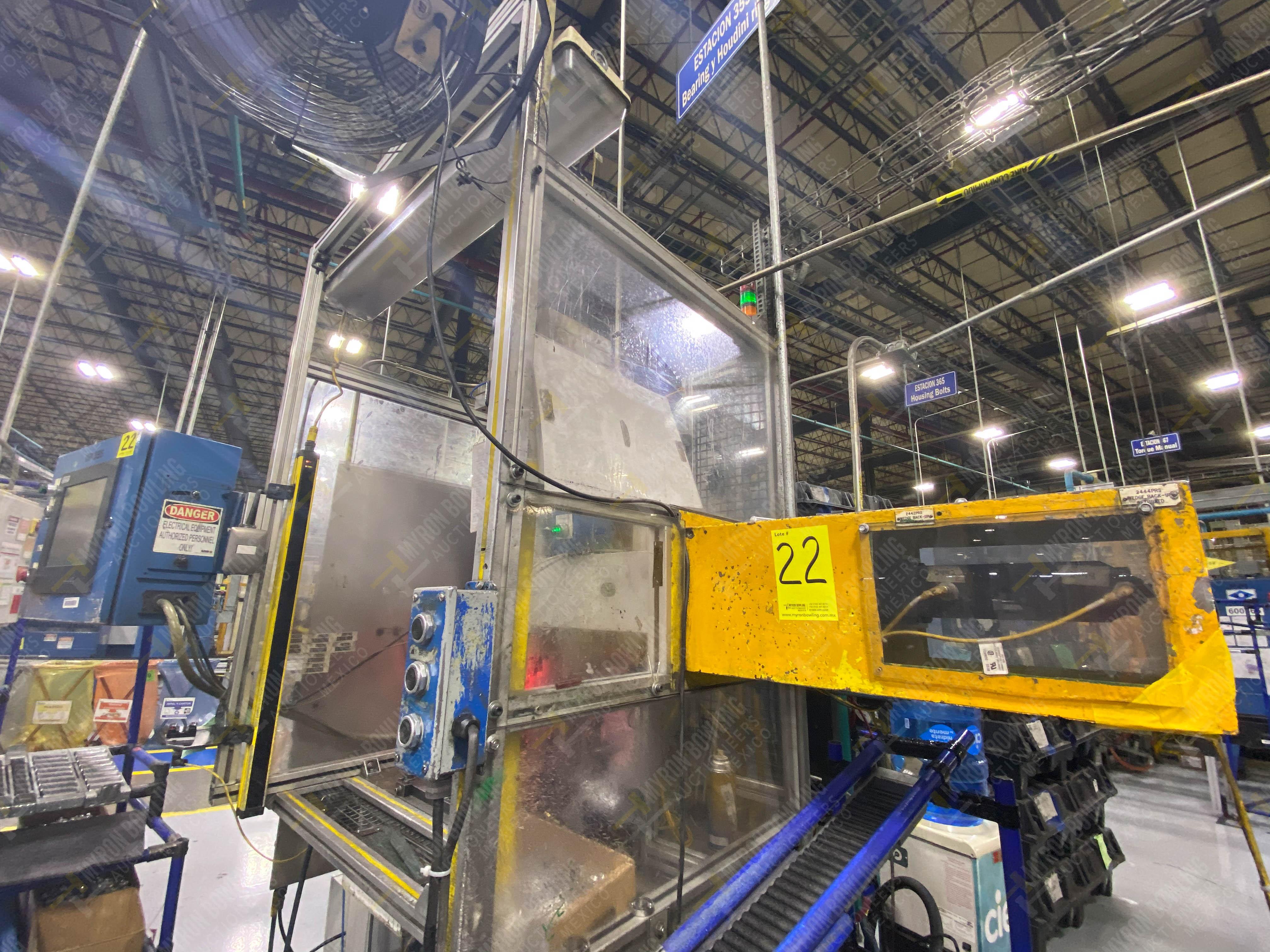 Estación semiautomática para operación 355A, contiene: Prensa en estructura de placa de acero - Image 4 of 36