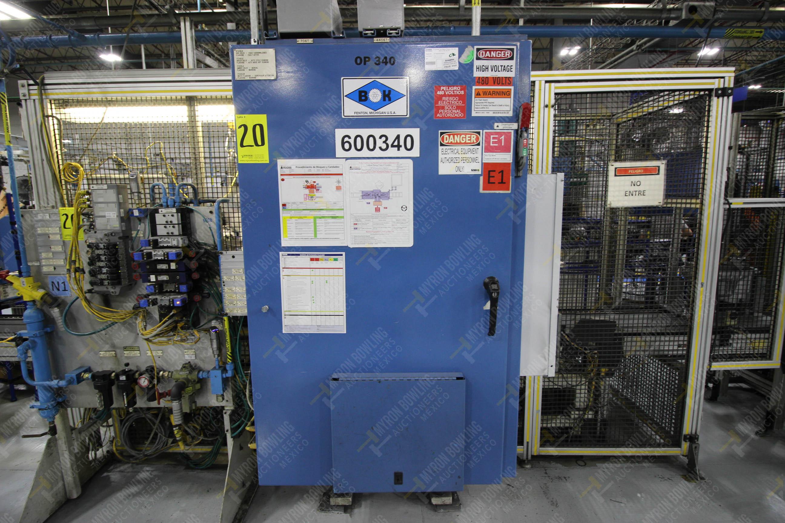 Estación semiautomática para operación 340, contiene: Prensa en estructura de placa de acero - Image 22 of 32