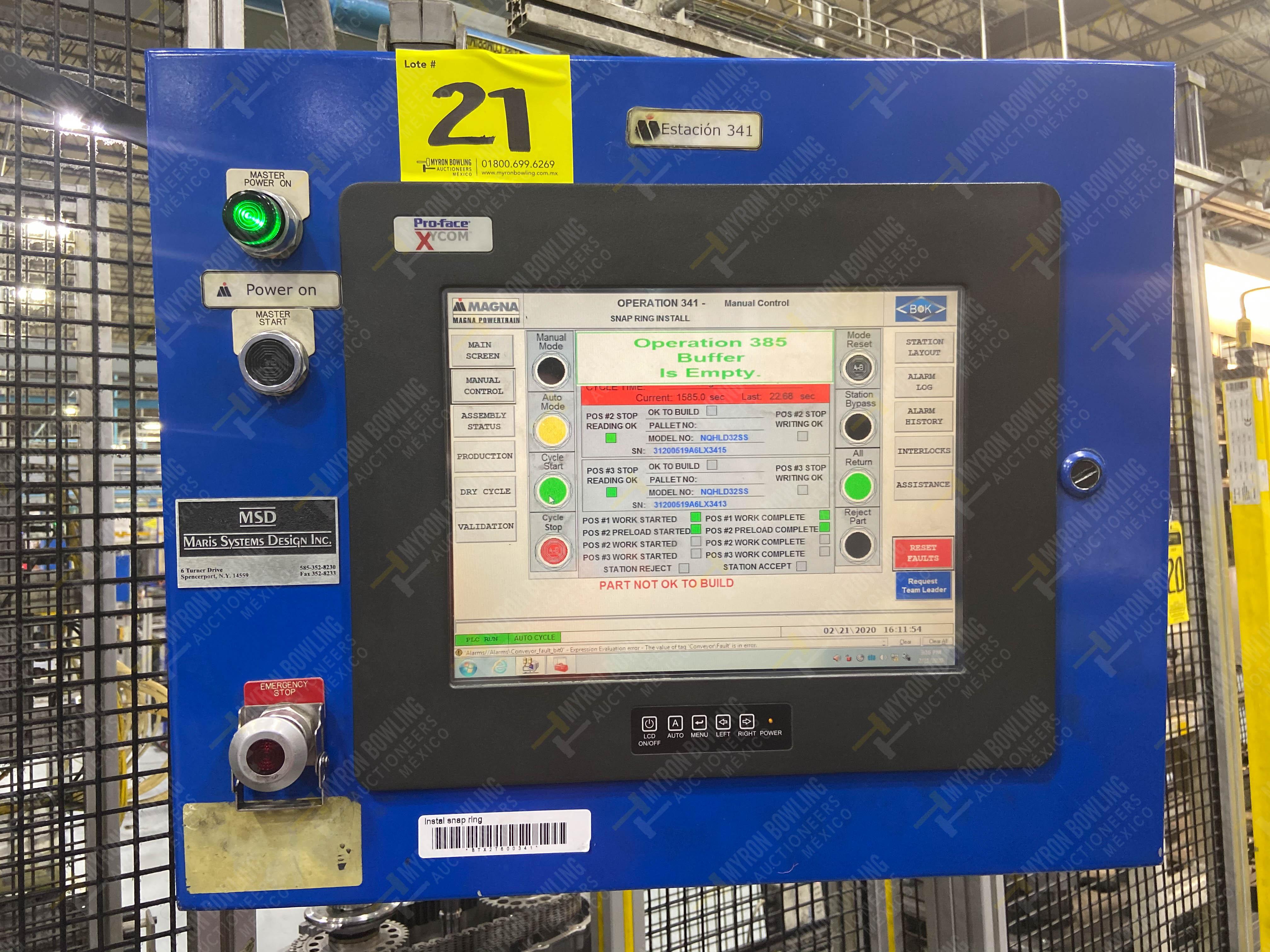 Estación semiautomática para operación 341, contiene: Prensa en estructura de placa de acero - Image 23 of 26