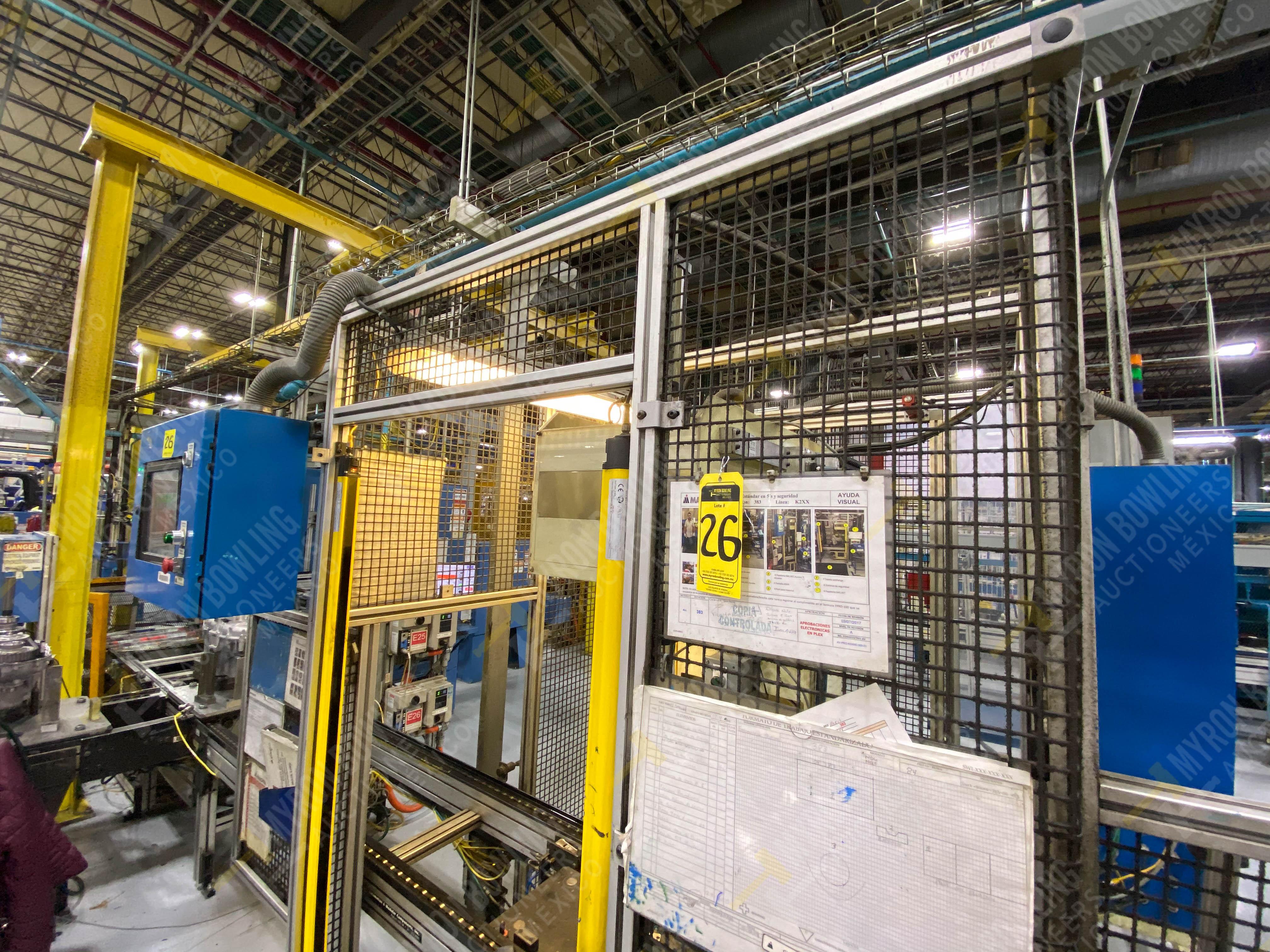 Estación manual para operación 383, contiene: Prensa marca PROMESS en estructura de placa de acero - Image 13 of 27