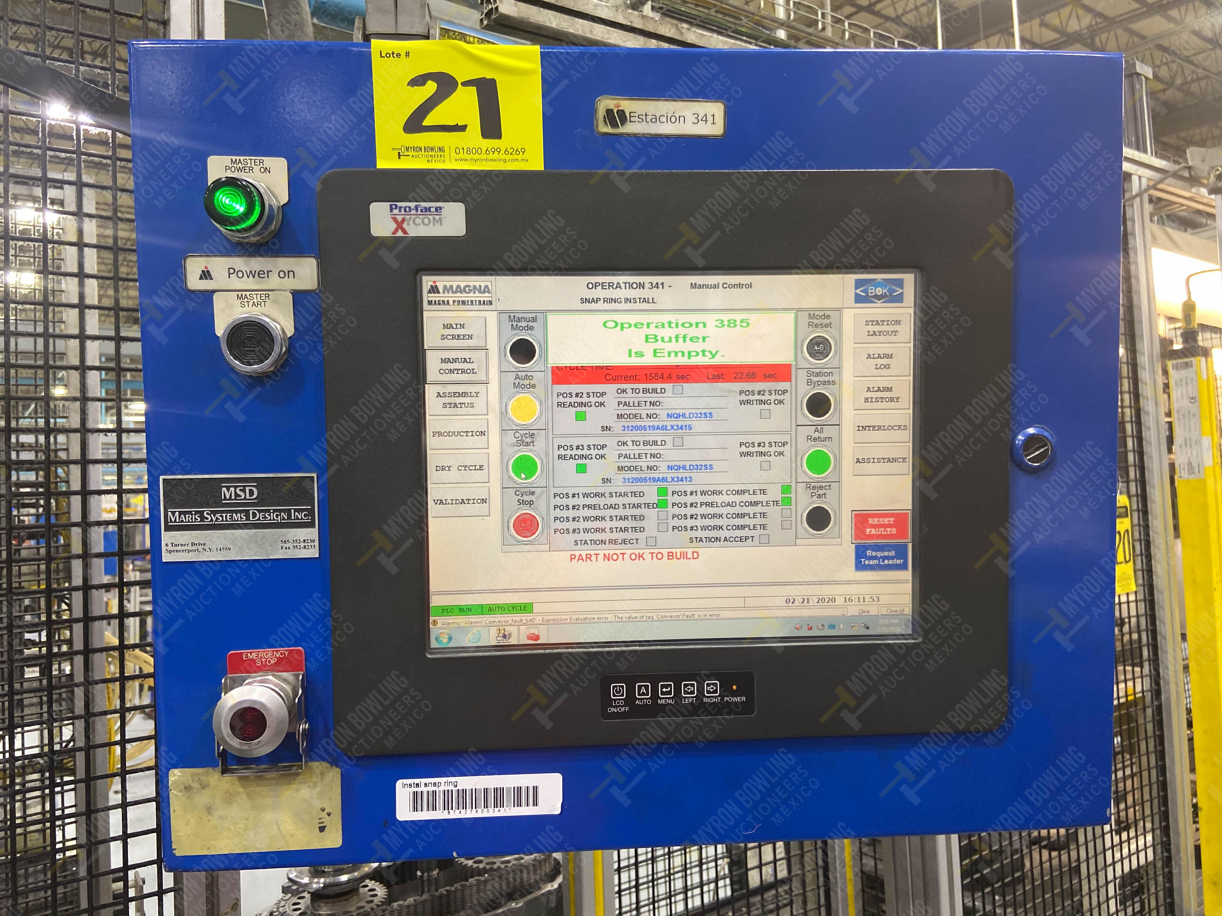 Estación semiautomática para operación 341, contiene: Prensa en estructura de placa de acero - Image 22 of 26