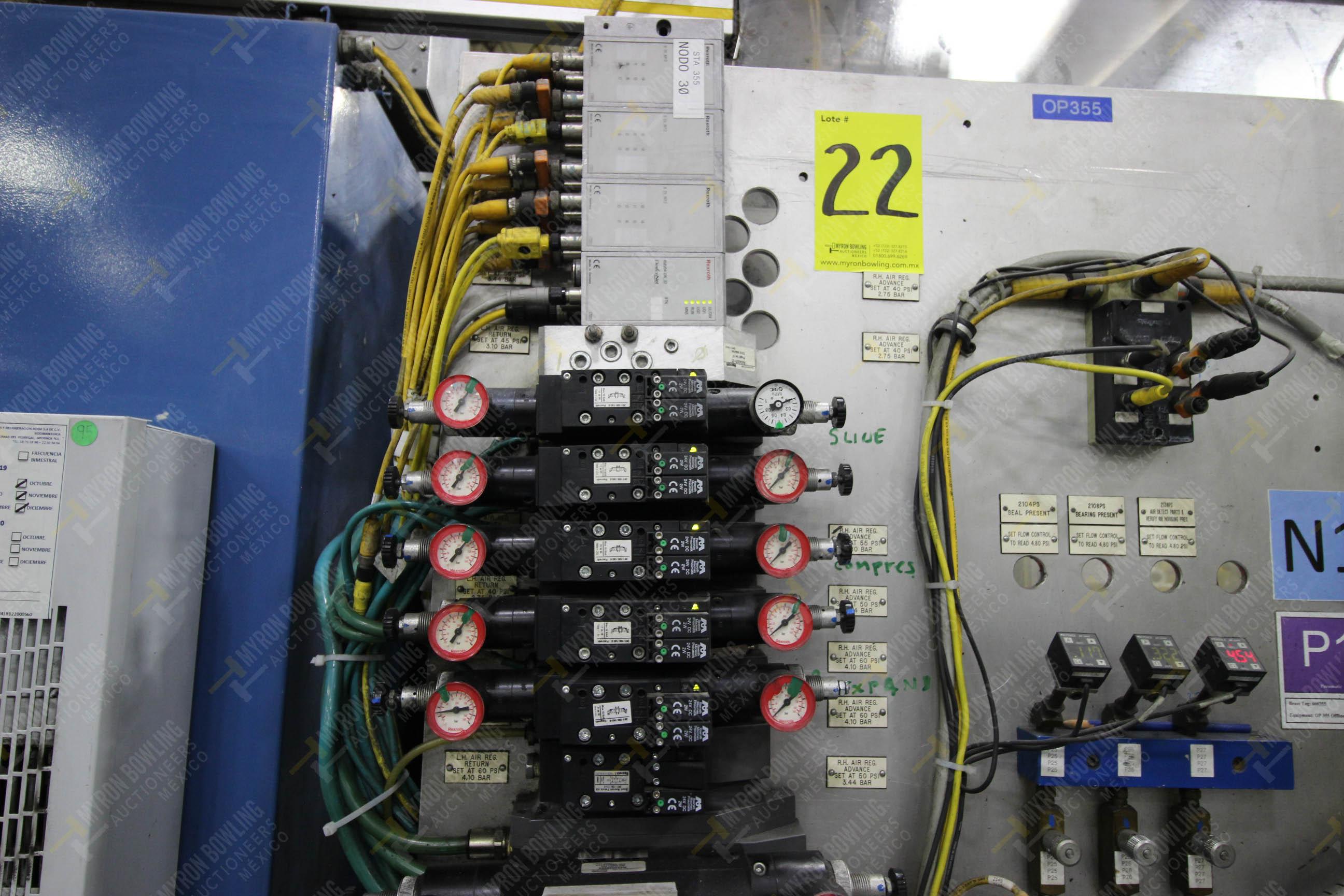 Estación semiautomática para operación 355A, contiene: Prensa en estructura de placa de acero - Image 19 of 36