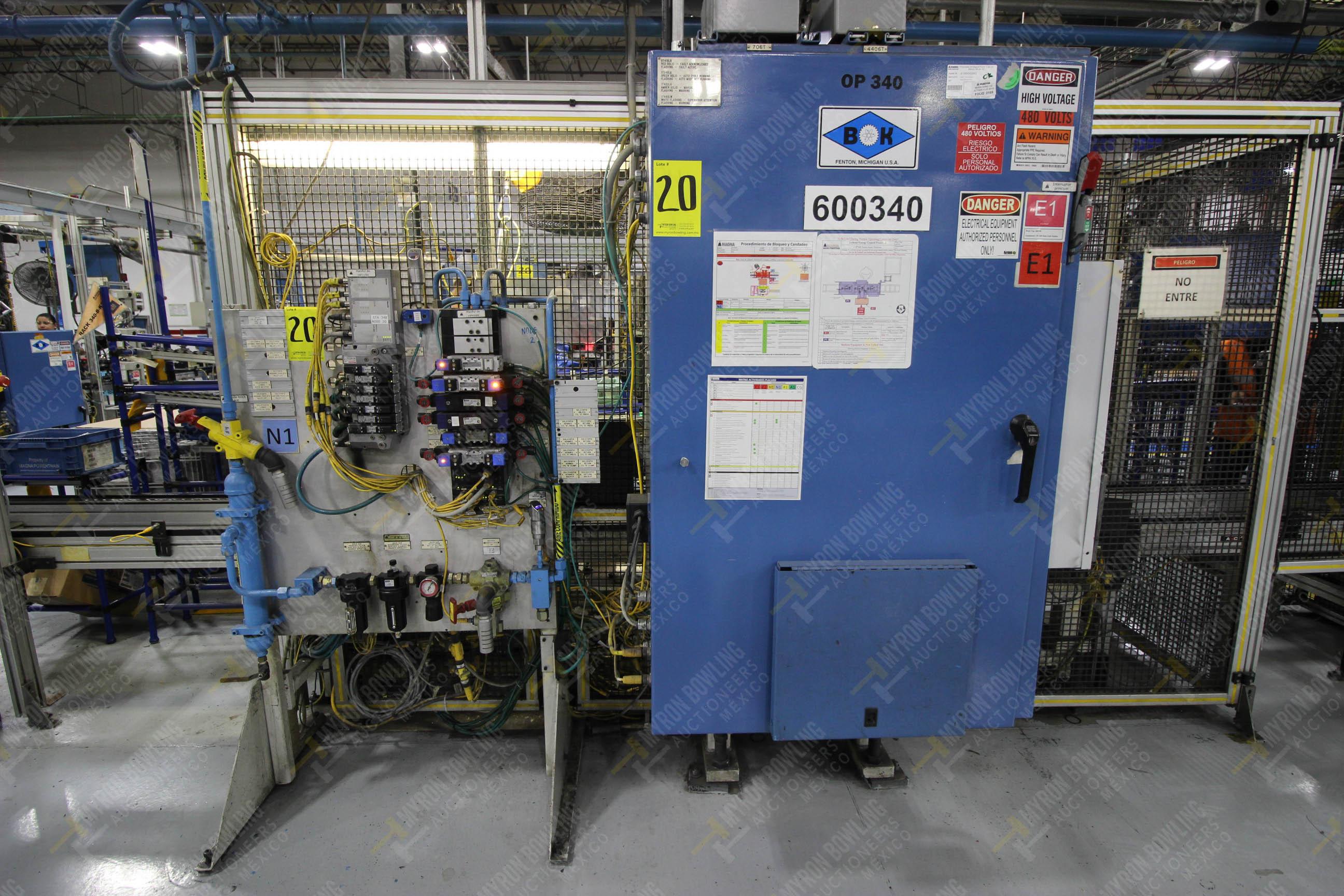 Estación semiautomática para operación 340, contiene: Prensa en estructura de placa de acero - Image 27 of 32