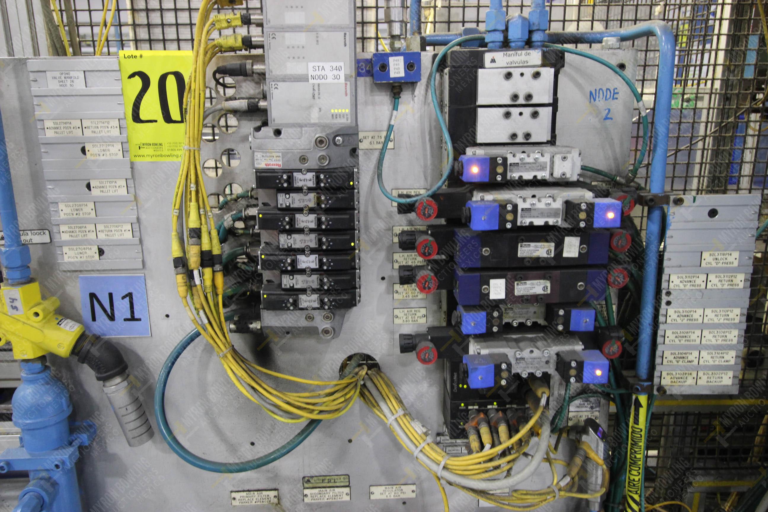 Estación semiautomática para operación 340, contiene: Prensa en estructura de placa de acero - Image 19 of 32