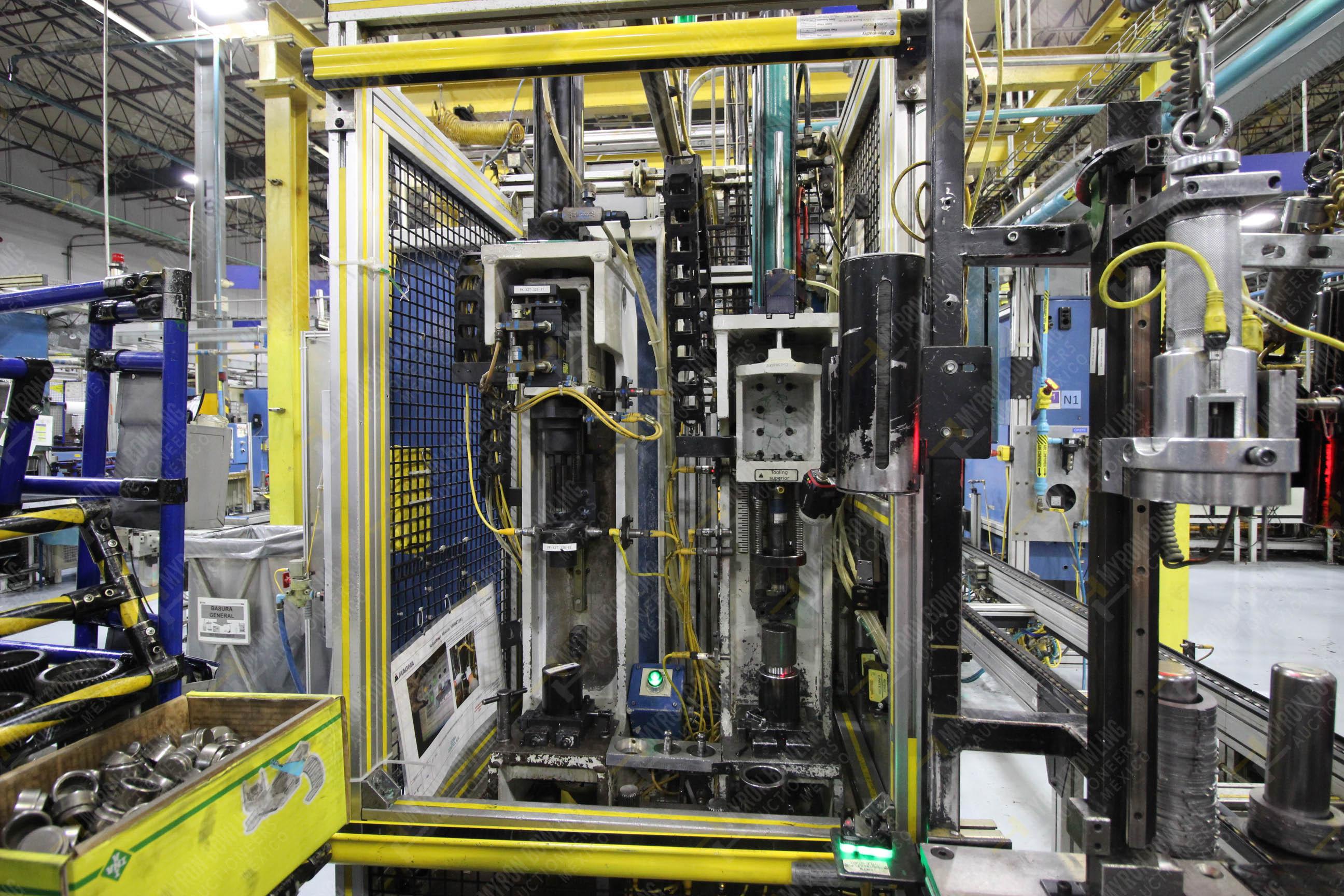 Estación semiautomática para operación 325, contiene: Prensa con dos cilindros marca TOX - Image 9 of 24